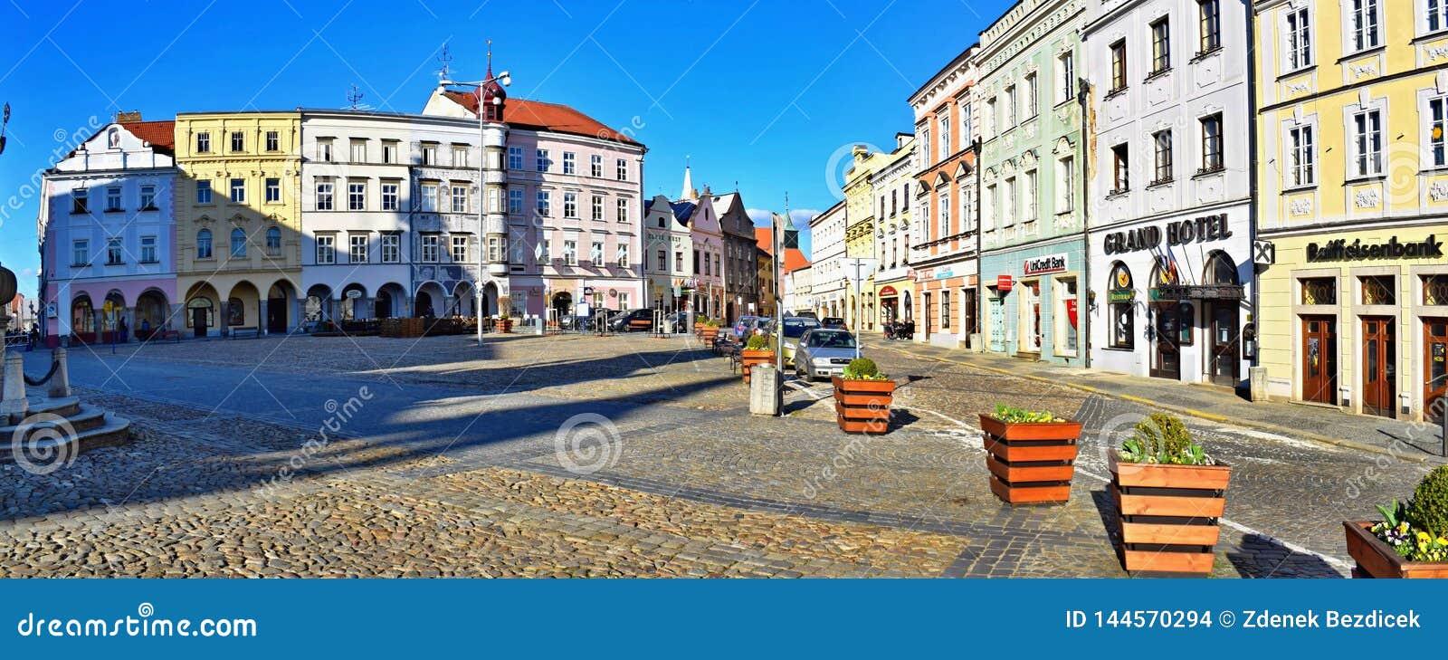 Τετράγωνο της ειρήνης σε Jindrichuv Hradec, Δημοκρατία της Τσεχίας