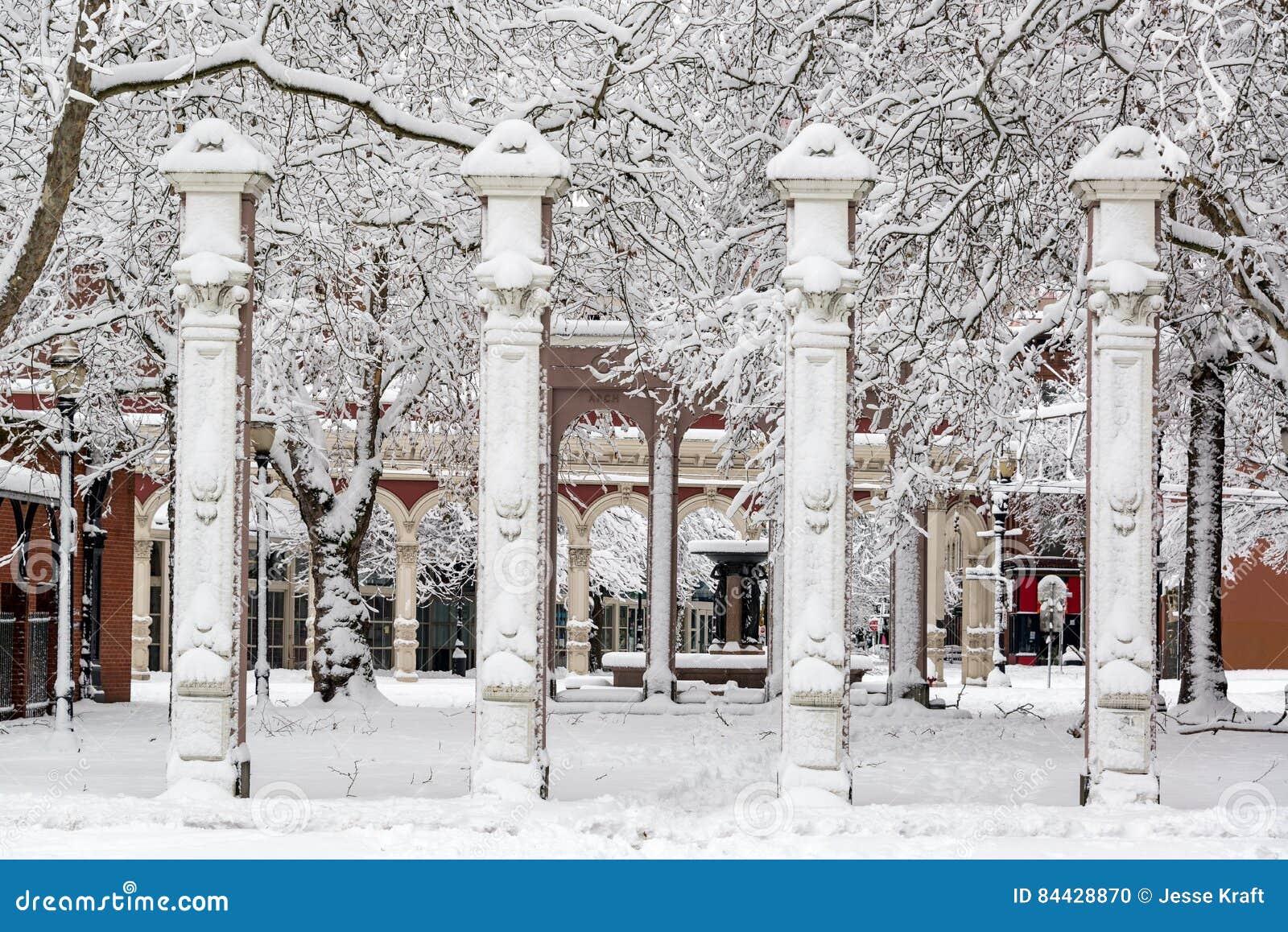 Τετράγωνο Ankeny κάτω από το χιόνι