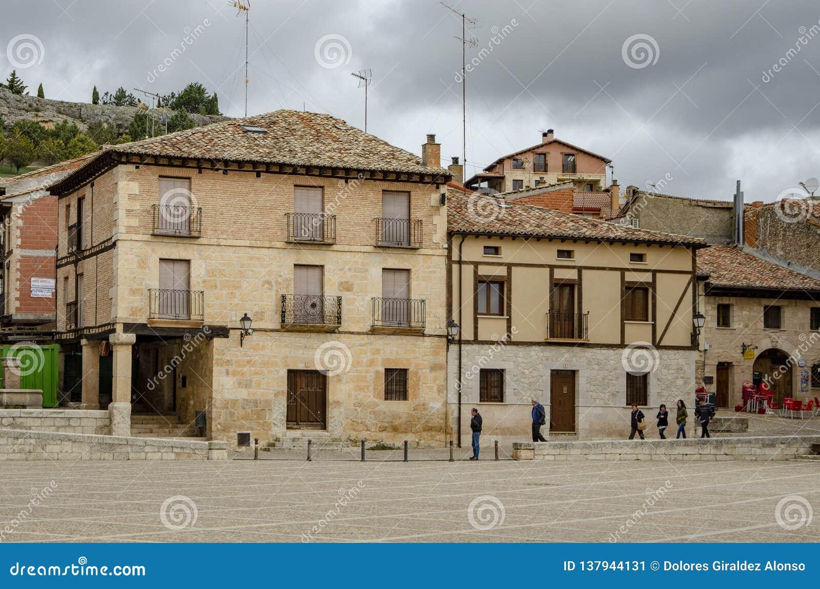 Τετράγωνο Penaranda de Duero στην επαρχία του Burgos, Ισπανία
