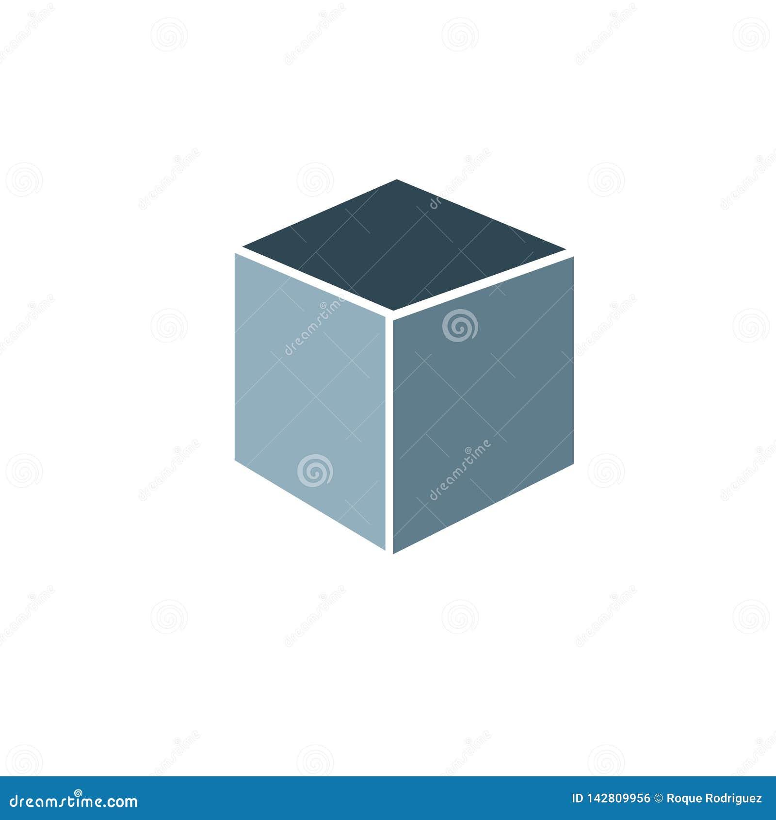 Τετραγωνικό τρισδιάστατο editable χρώμα μορφής