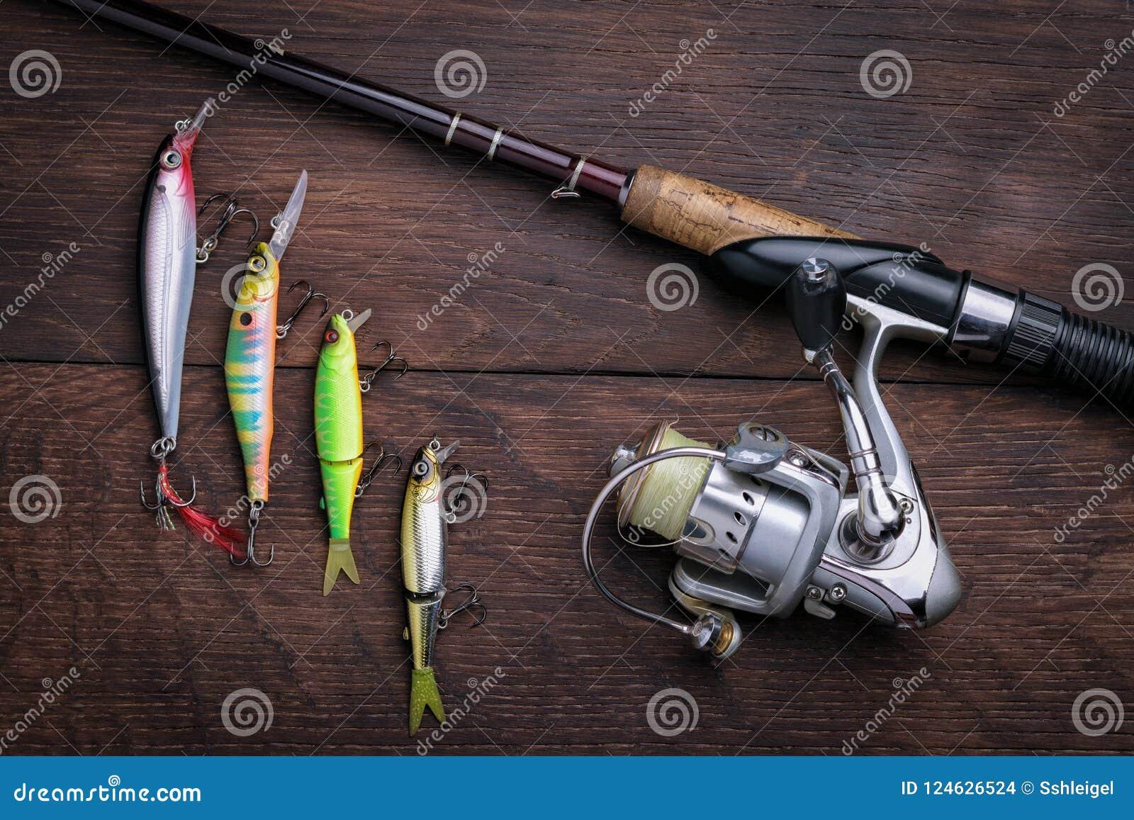 Τεχνητά θέλγητρα για τη τοπ άποψη αλιείας και περιστροφής