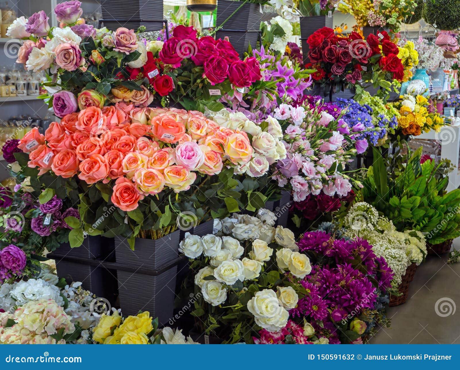 Τεχνητά λουλούδια για την πώληση