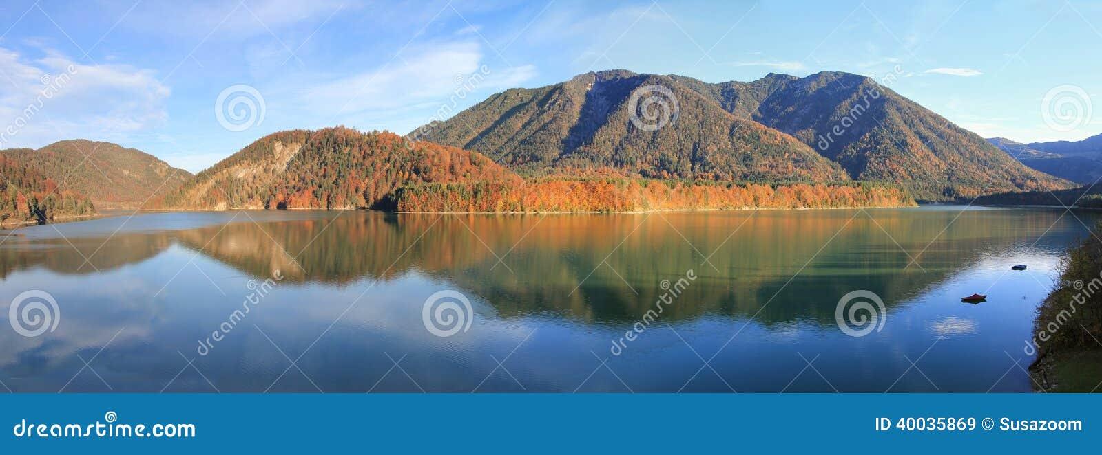 Τεχνητή λίμνη sylvenstein το φθινόπωρο