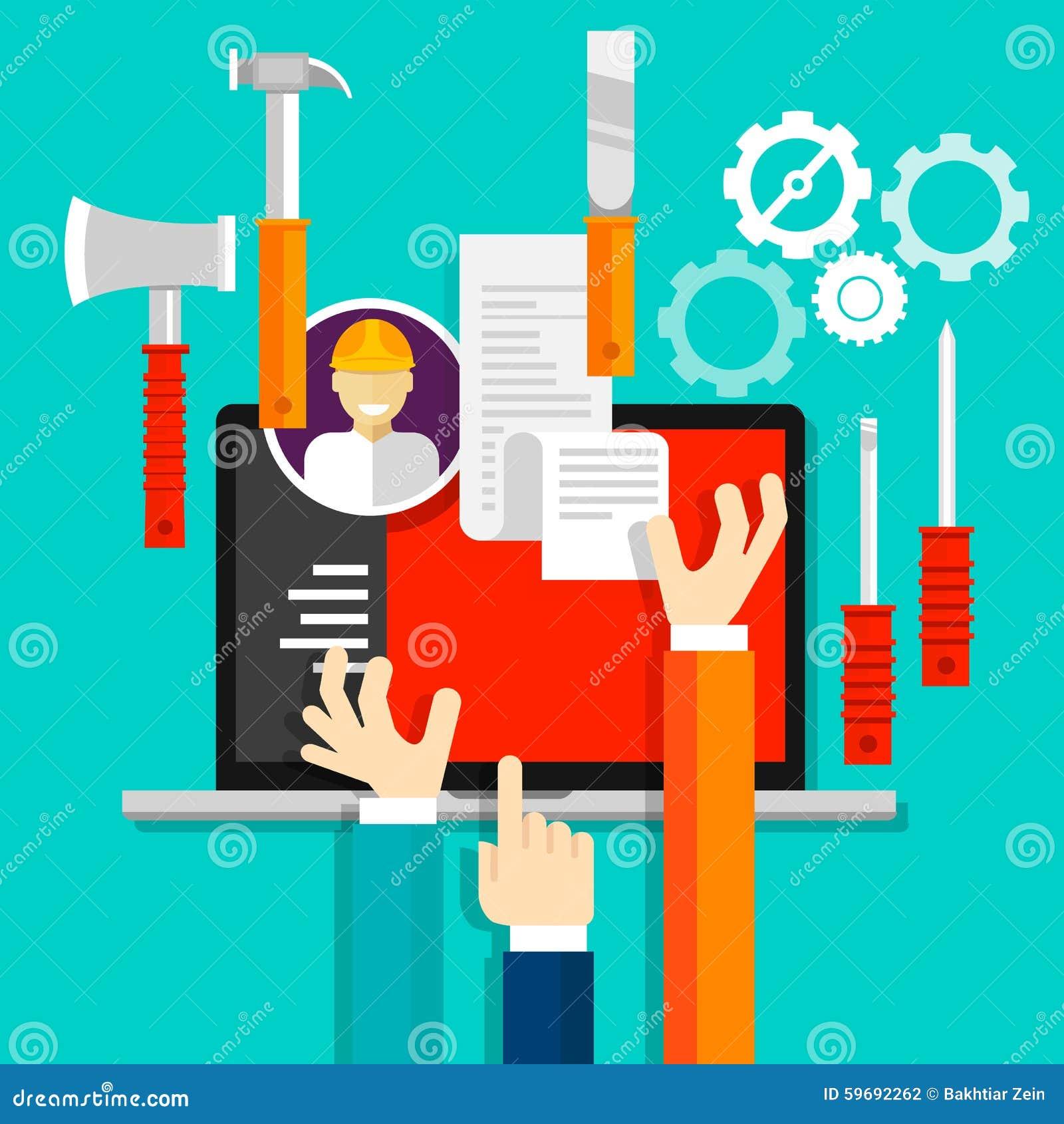 Τεχνική βιομηχανία εικονιδίων εργαλείων υπηρεσιών συντήρησης