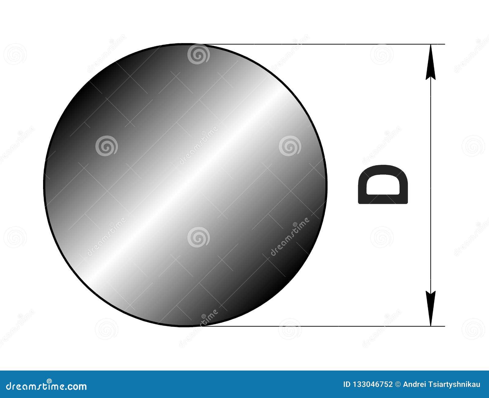 Τεχνικό κυλημένο σχέδιο μέταλλο Σχεδιάγραμμα κύκλων χάλυβα Εικόνα για τον ιστοχώρο απεικόνιση