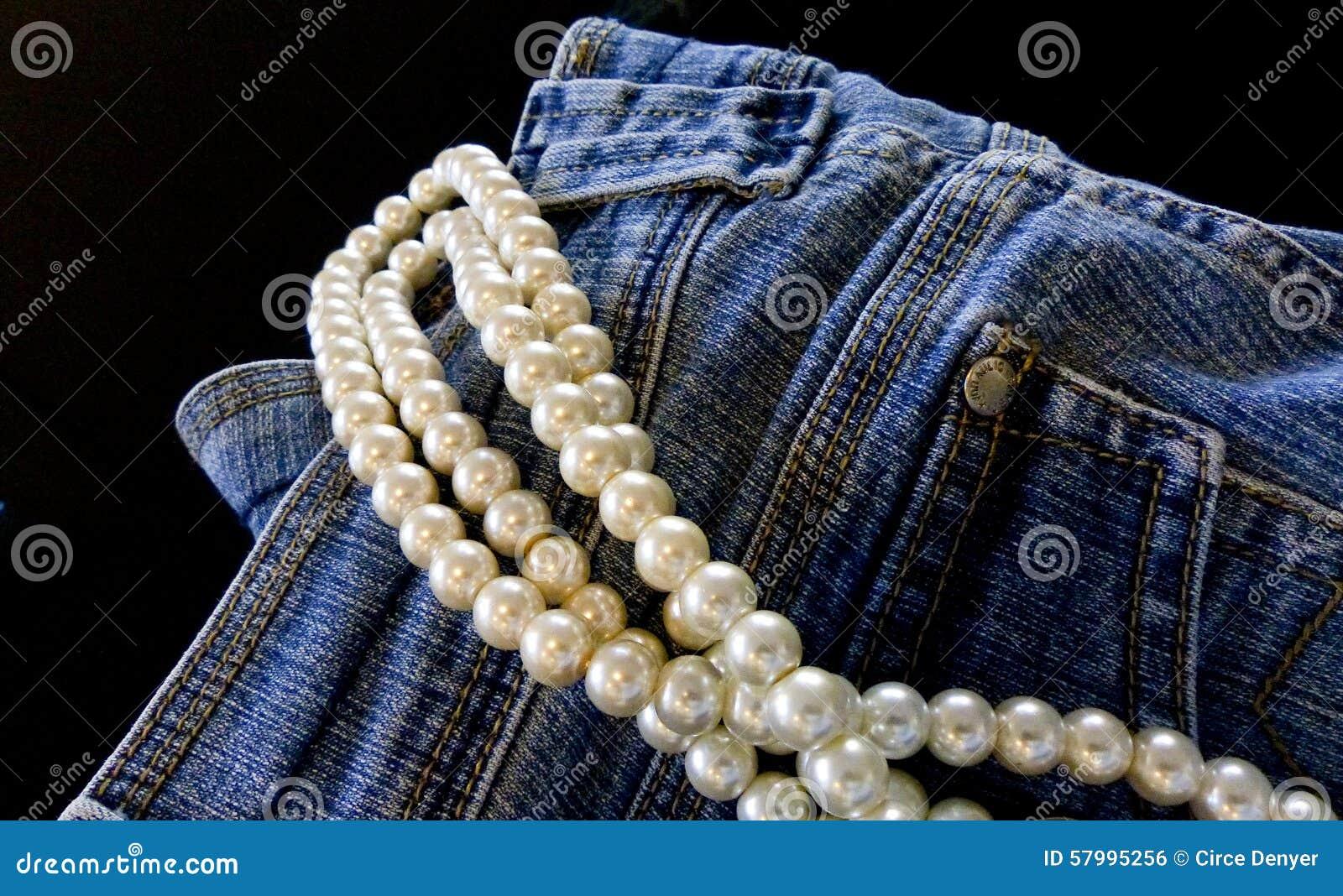 Τζιν παντελόνι και μαργαριτάρια