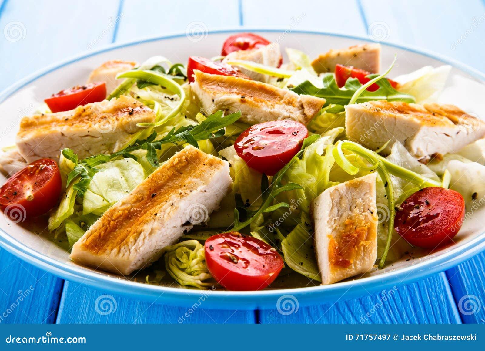 τηγανισμένα λαχανικά κρέατ&