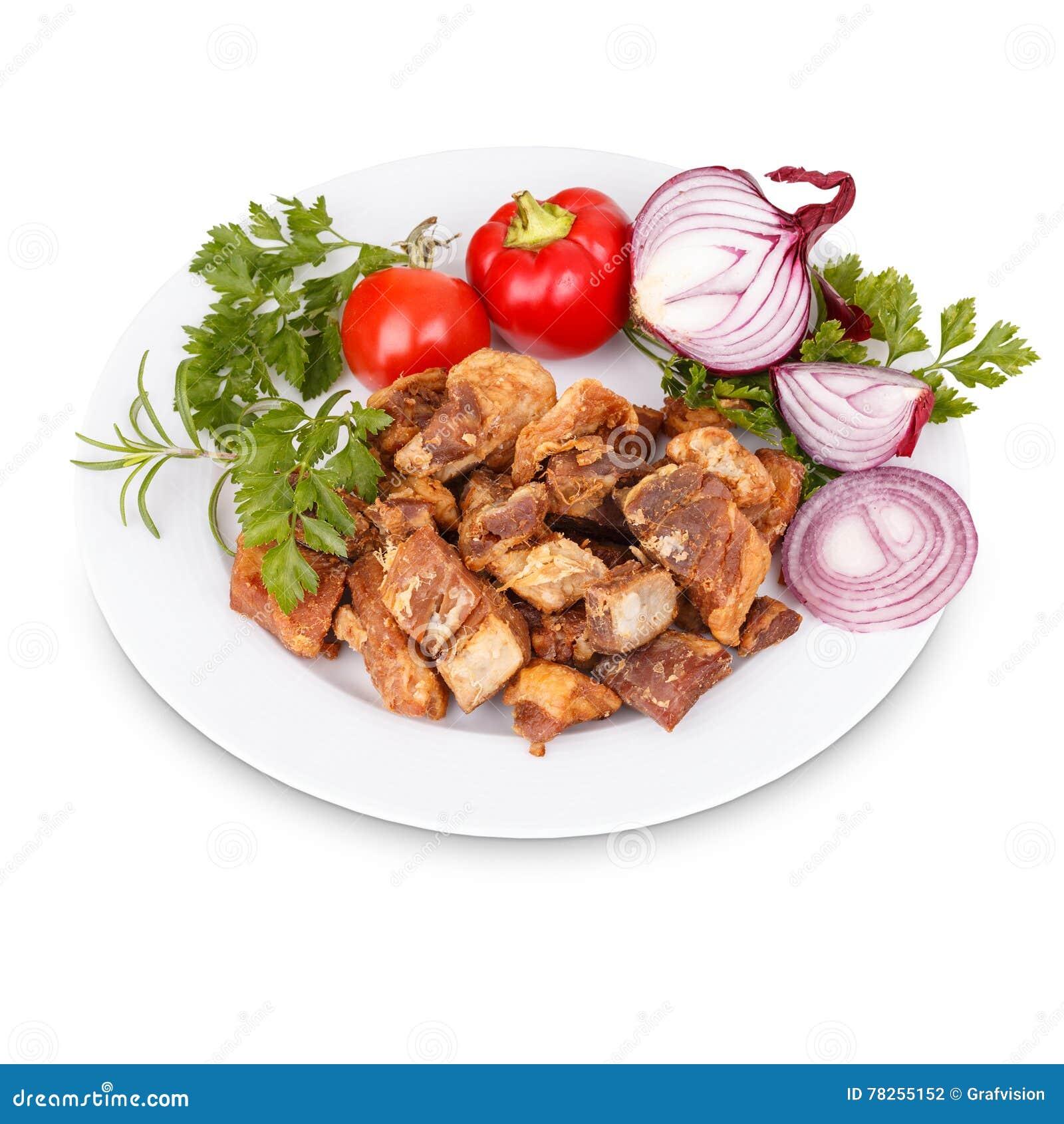 Τηγανισμένα υπολείμματα ζωϊκού λίπους χοιρινού κρέατος