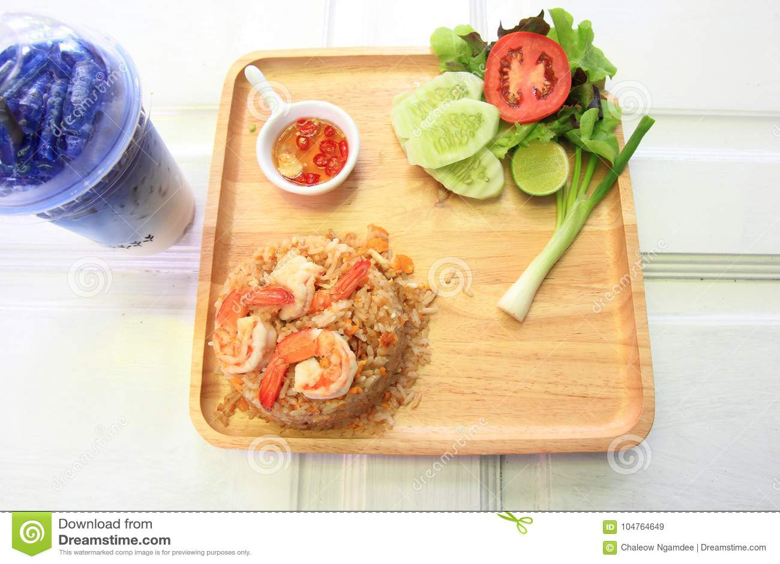 τηγανισμένες γαρίδες ρυζιού