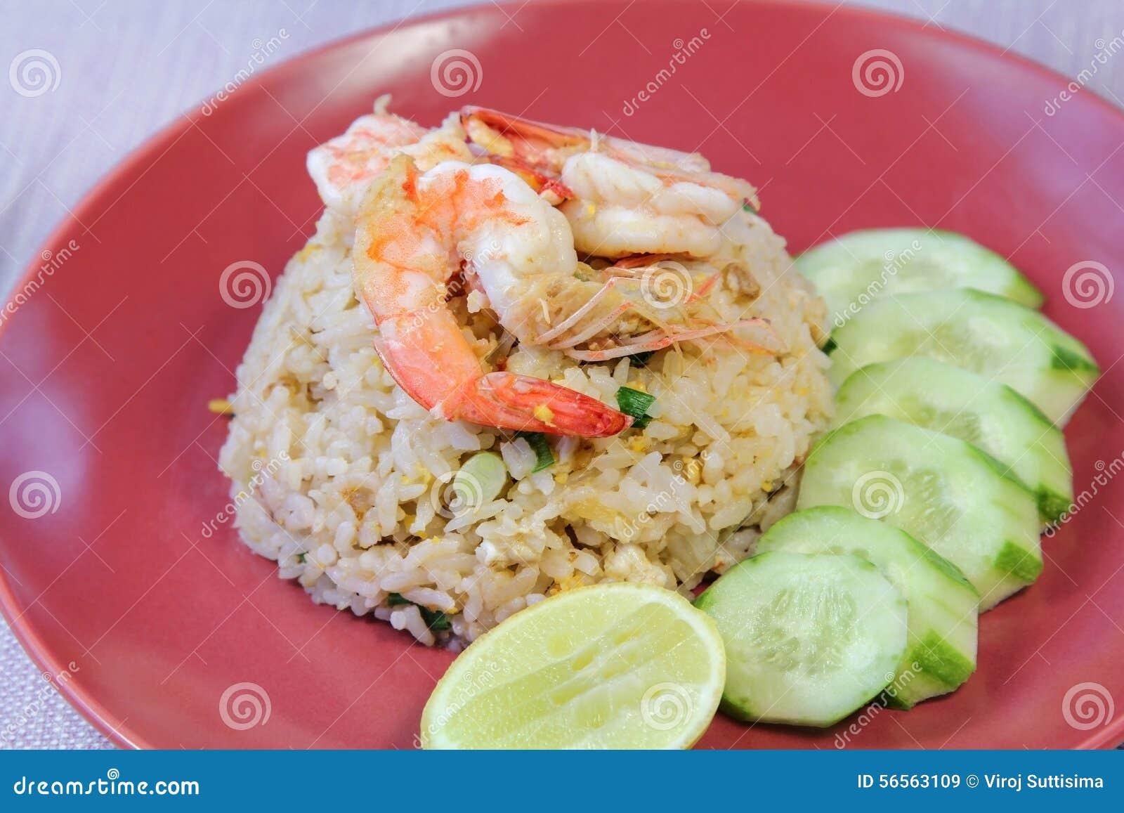 Download Τηγανισμένο γαρίδες ρύζι, τρόφιμα Στοκ Εικόνα - εικόνα από backgrounder, καλλιέργεια: 56563109