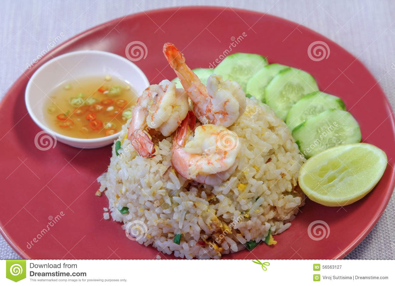 Download Τηγανισμένο γαρίδες ρύζι, τρόφιμα Στοκ Εικόνα - εικόνα από σιτάρι, ψάρια: 56563127