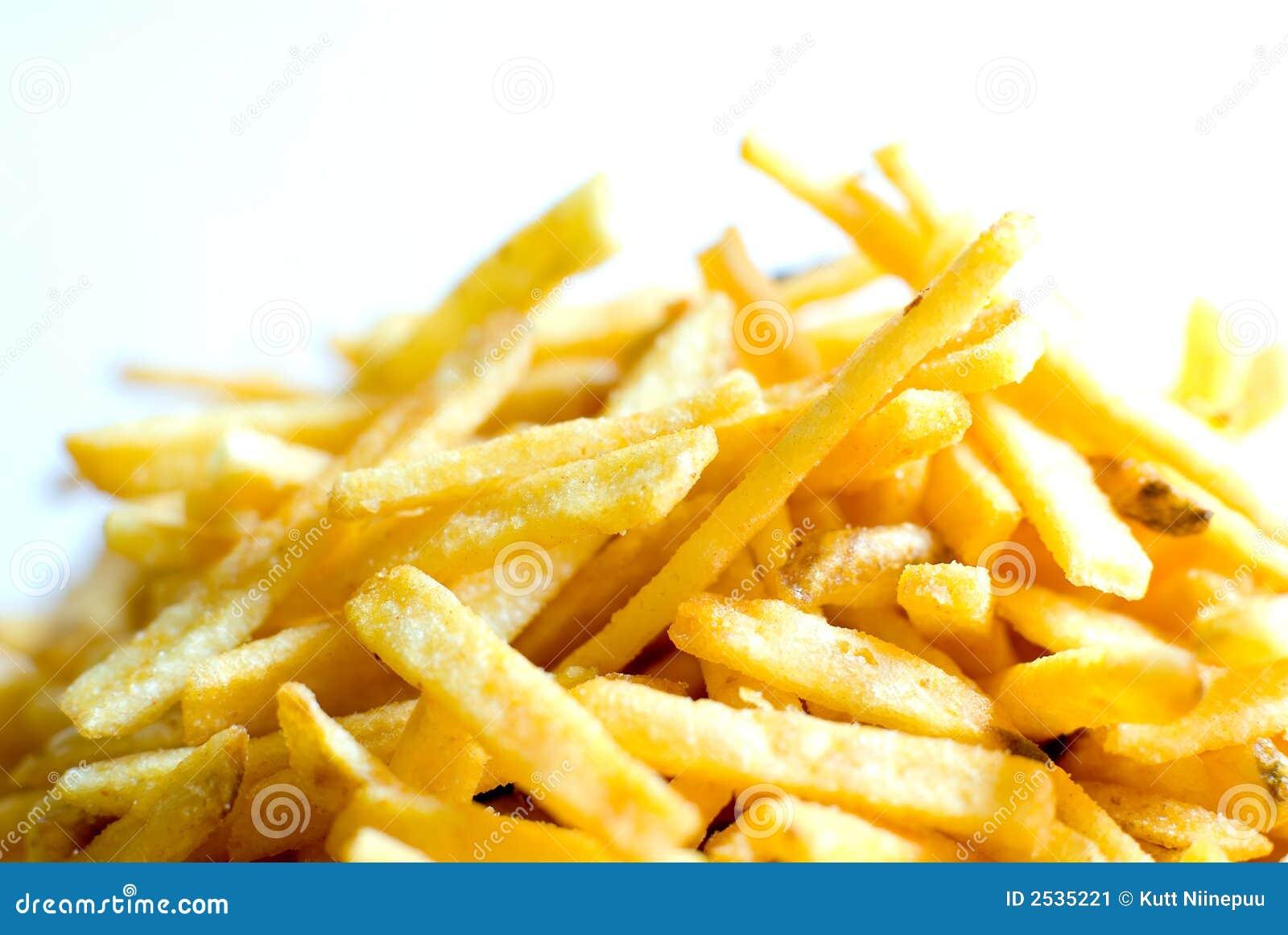 τηγανιτές πατάτες χρυσές