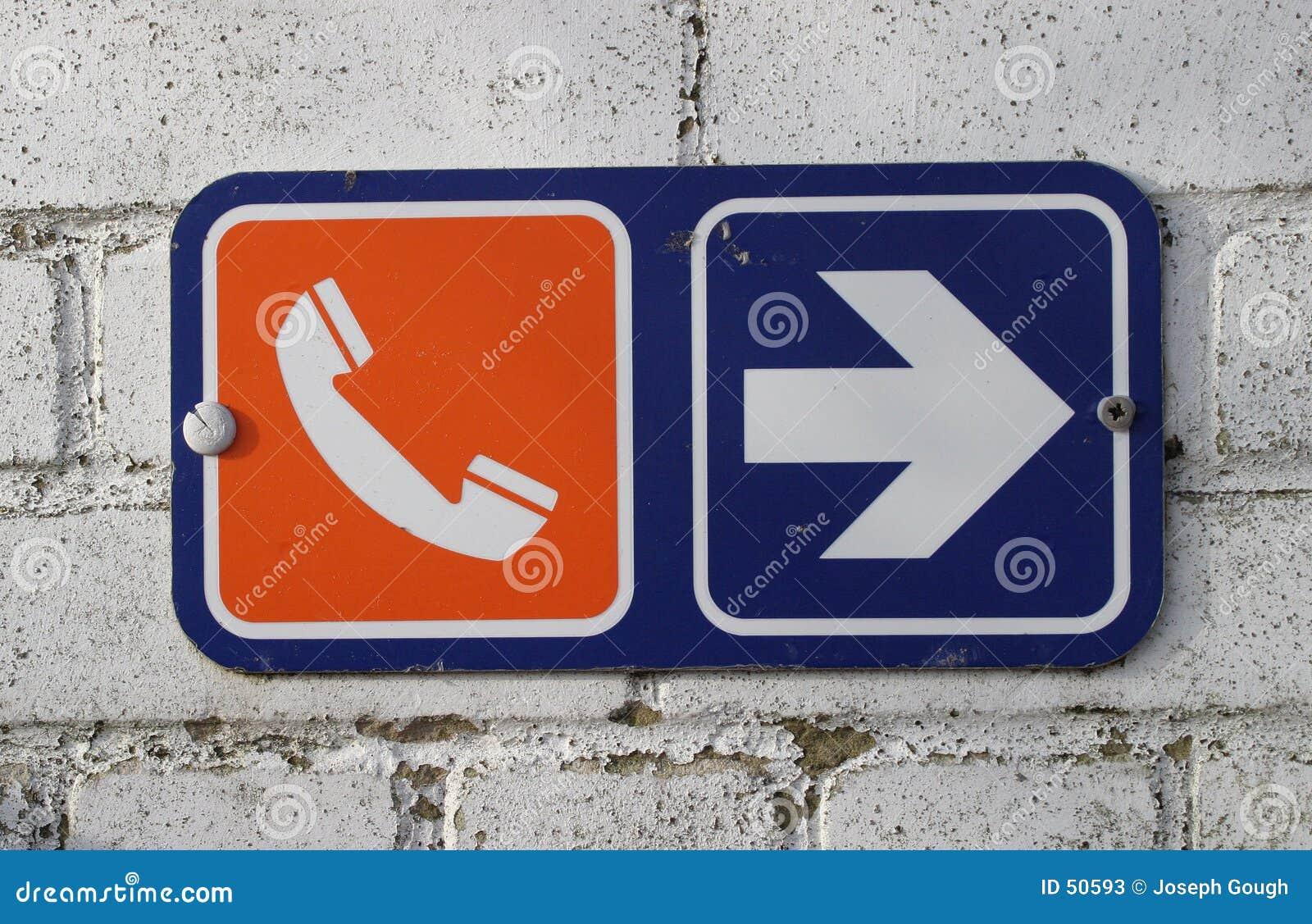 Download τηλέφωνο σημαδιών στοκ εικόνα. εικόνα από κατεύθυνση, σύμβολο - 50593