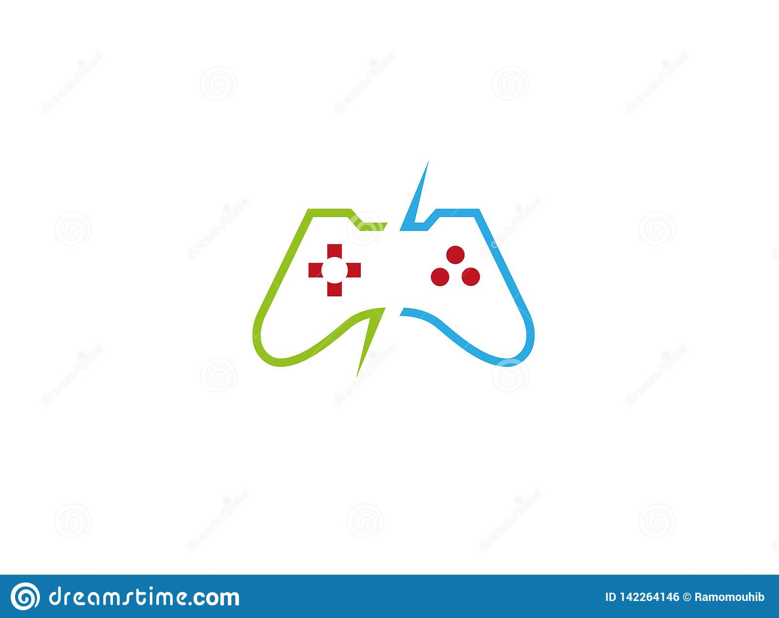 Τηλεοπτικά παιχνίδια κονσολών μια συσκευή ελεγκτών για το λογότυπο