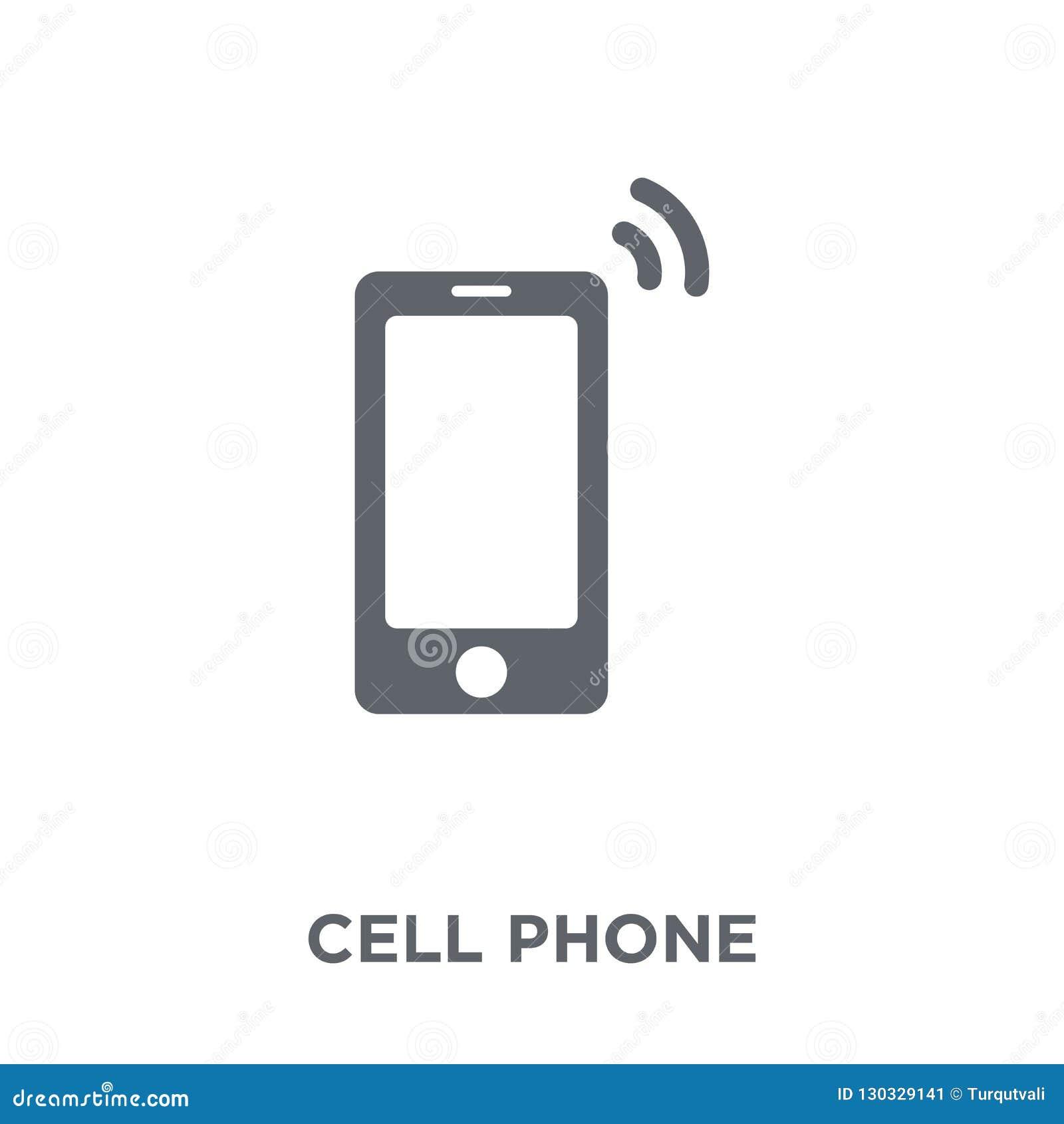τηλεφωνικό εικονίδιο κυττάρων από τη συλλογή ηλεκτρονικών συσκευών