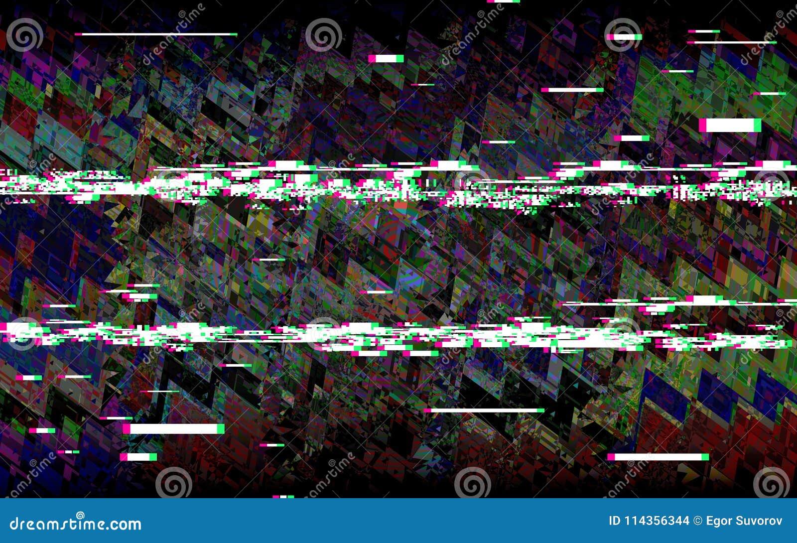Τηλεόραση δυσλειτουργίας Αναδρομικό υπόβαθρο VHS Ψηφιακός θόρυβος εικονοκυττάρου Αφηρημένο σχέδιο κανένα σήμα επίσης corel σύρετε