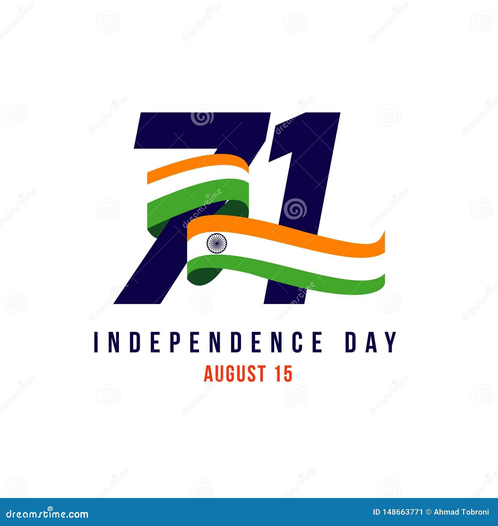Της Ινδίας ανεξάρτητη απεικόνιση σχεδίου προτύπων ημέρας διανυσματική