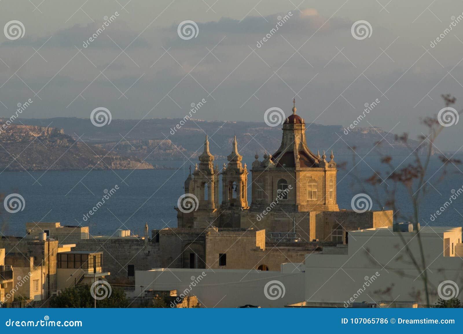 Της Μάλτα παρεκκλησι στο ηλιοβασίλεμα