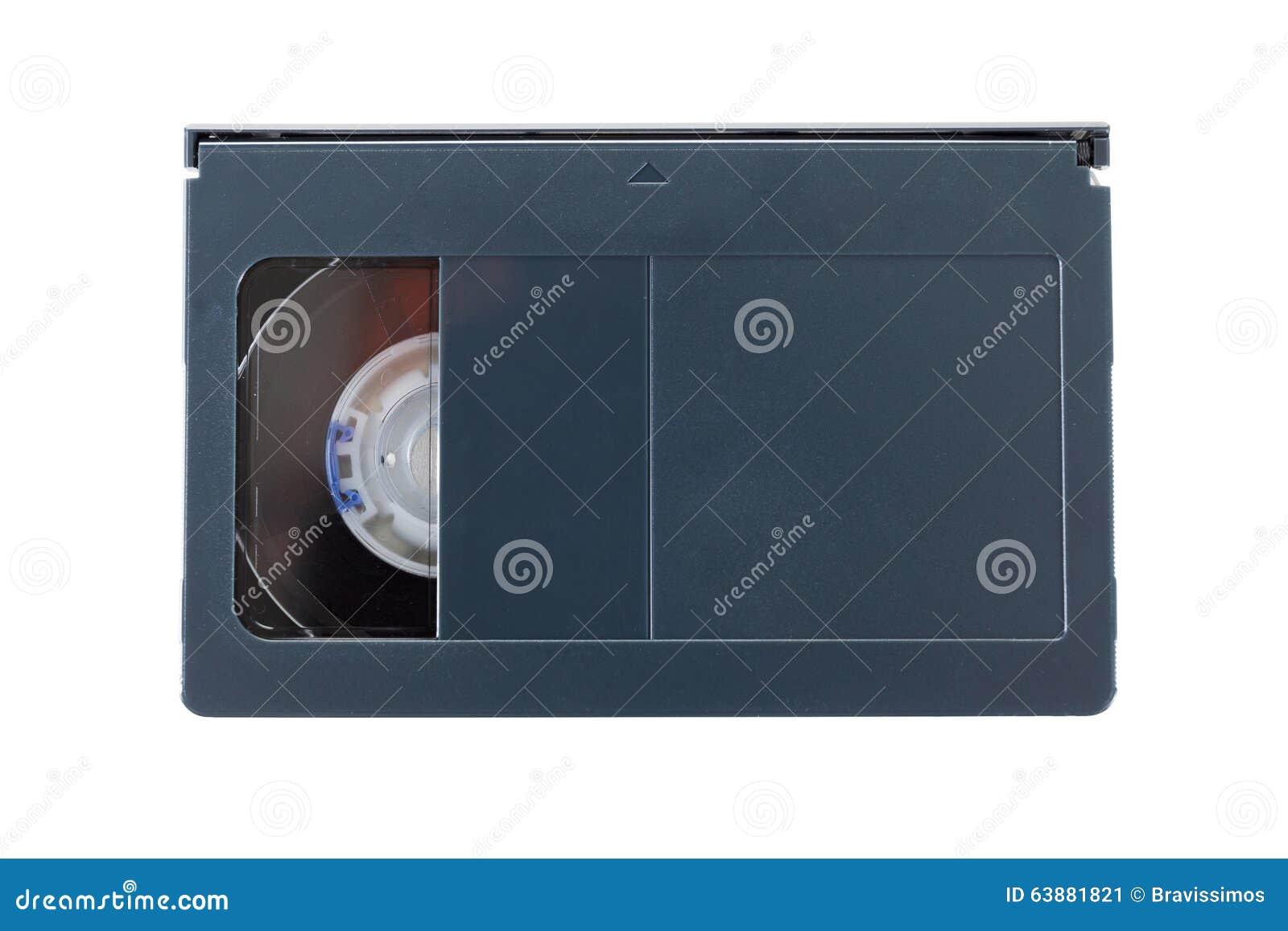 Τηλεοπτικές κασέτες VHS-γ στο άσπρο υπόβαθρο