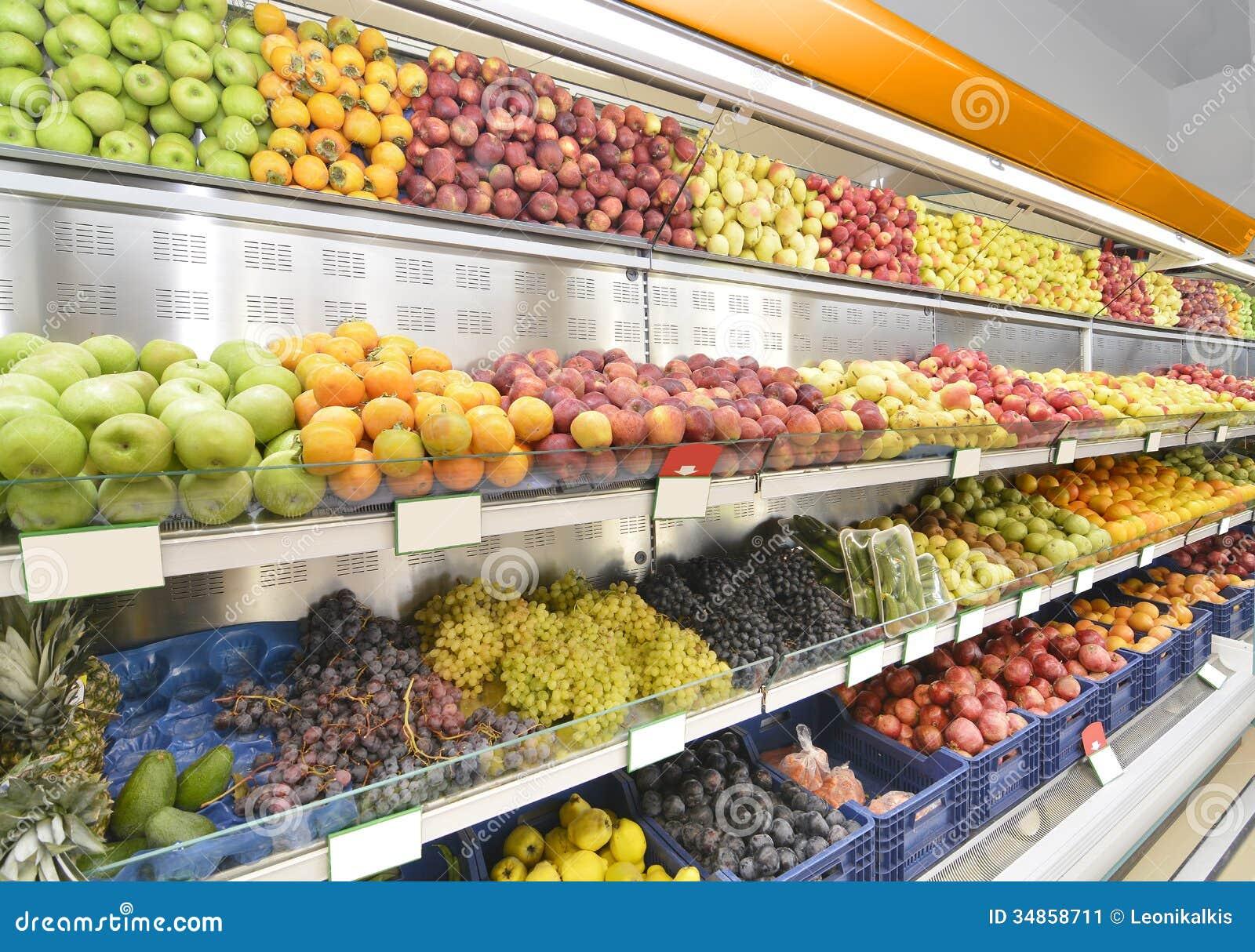 Τμήμα τροφίμων στην υπεραγορά