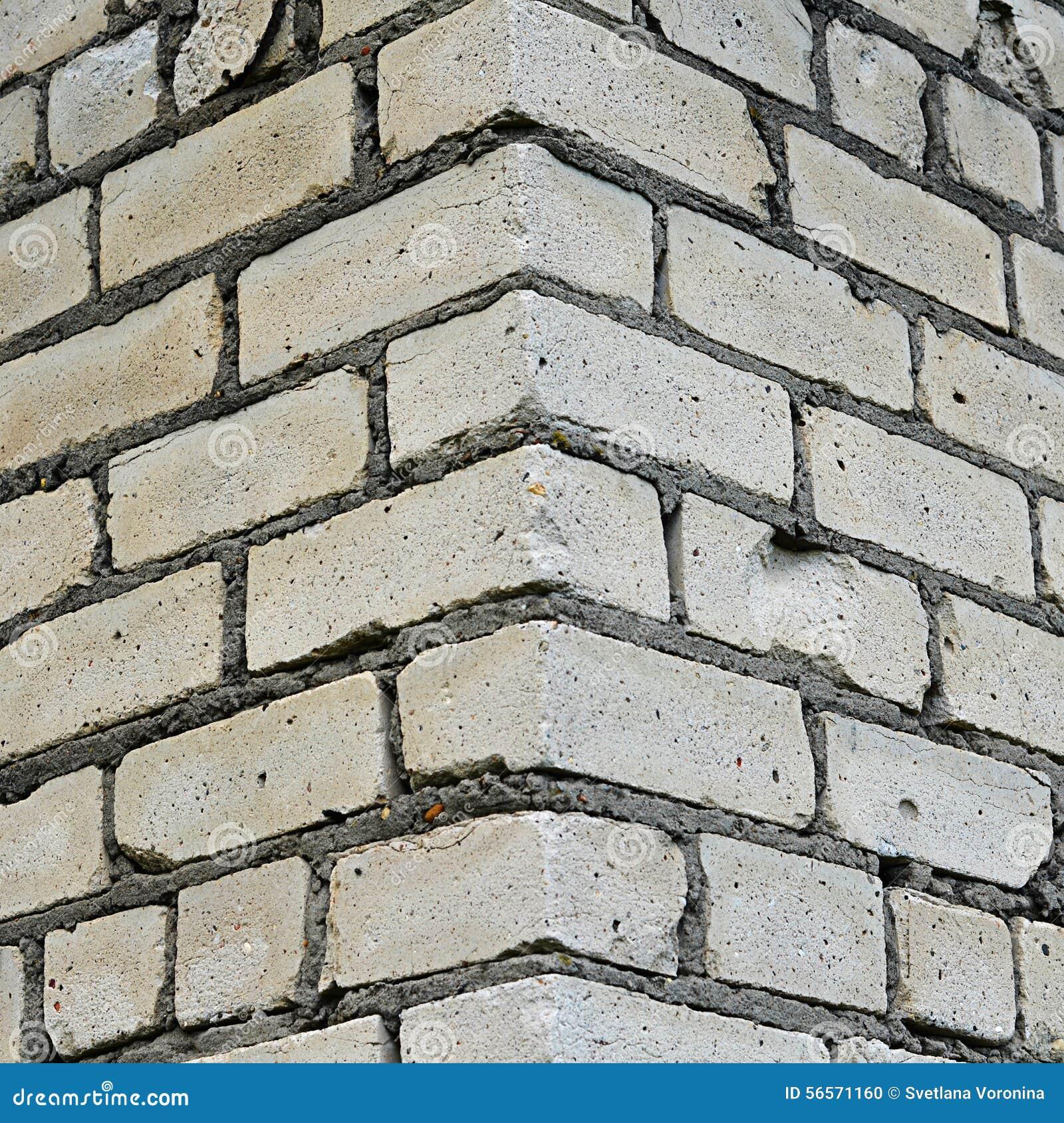 Download Τοίχος από άσπρο στενό επάνω τούβλου Στοκ Εικόνες - εικόνα από σπίτι, grunge: 56571160