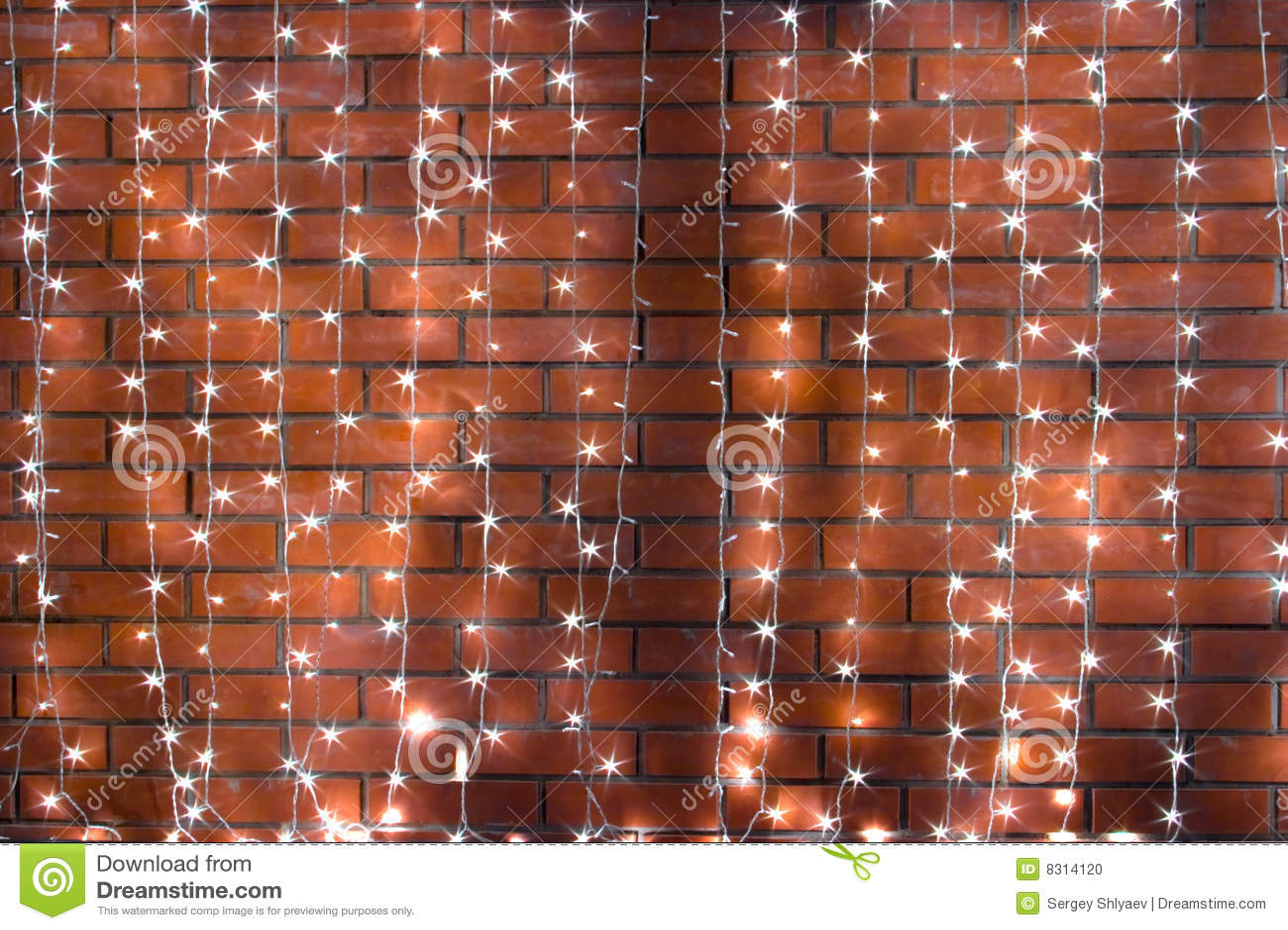 τοίχος γιρλαντών τούβλο&upsil
