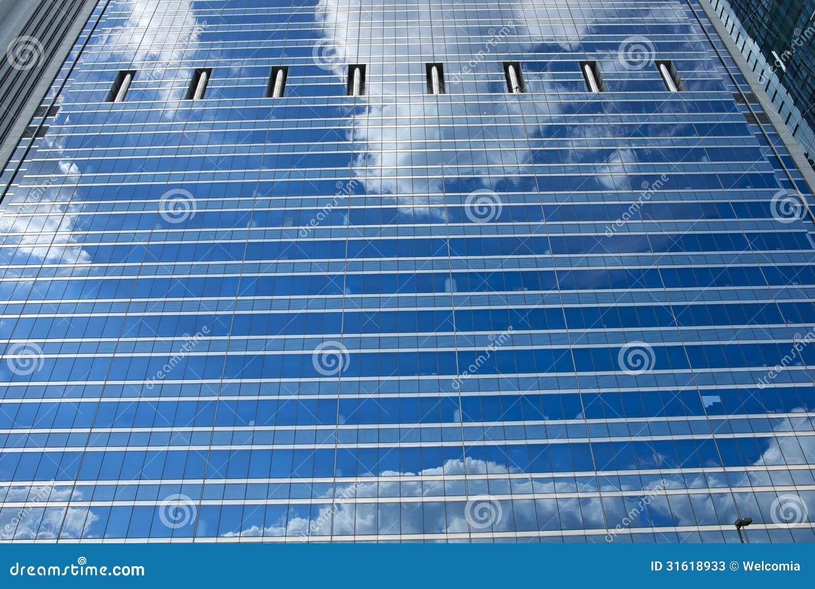 Τοίχος γυαλιού ουρανοξυστών