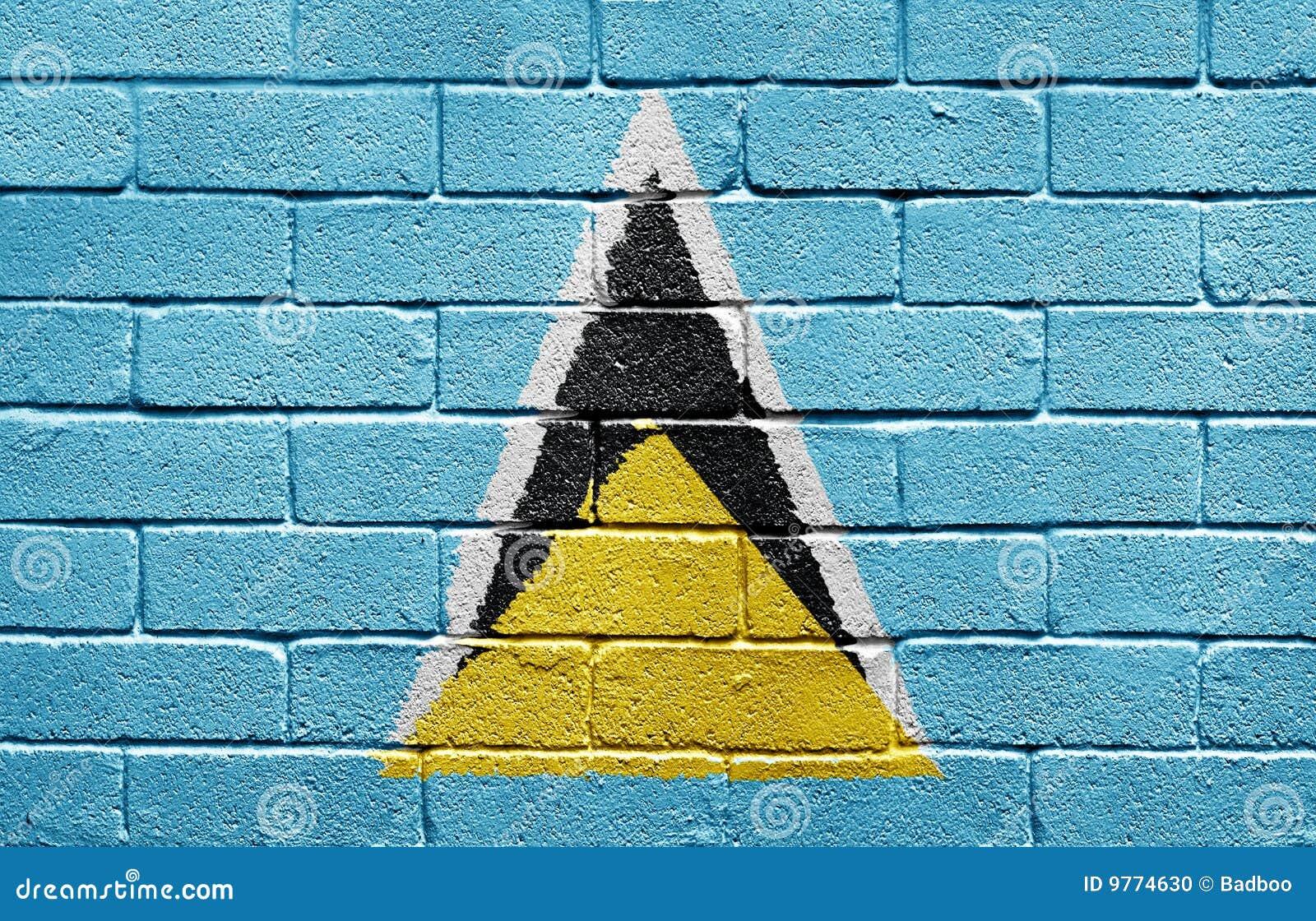 τοίχος της Λουκία Άγιος σημαιών τούβλου