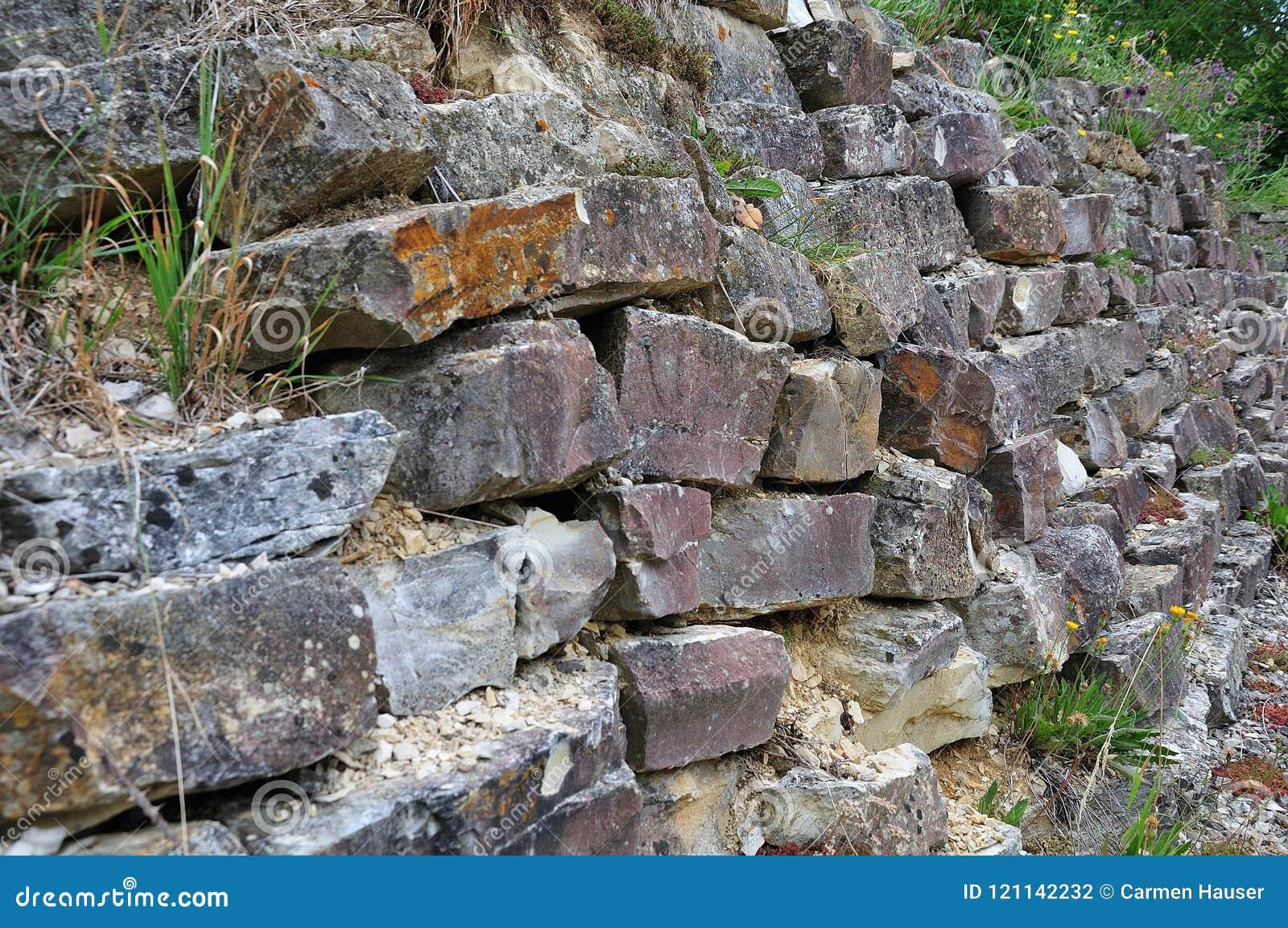 Τοίχος Drystone σε έναν κήπο