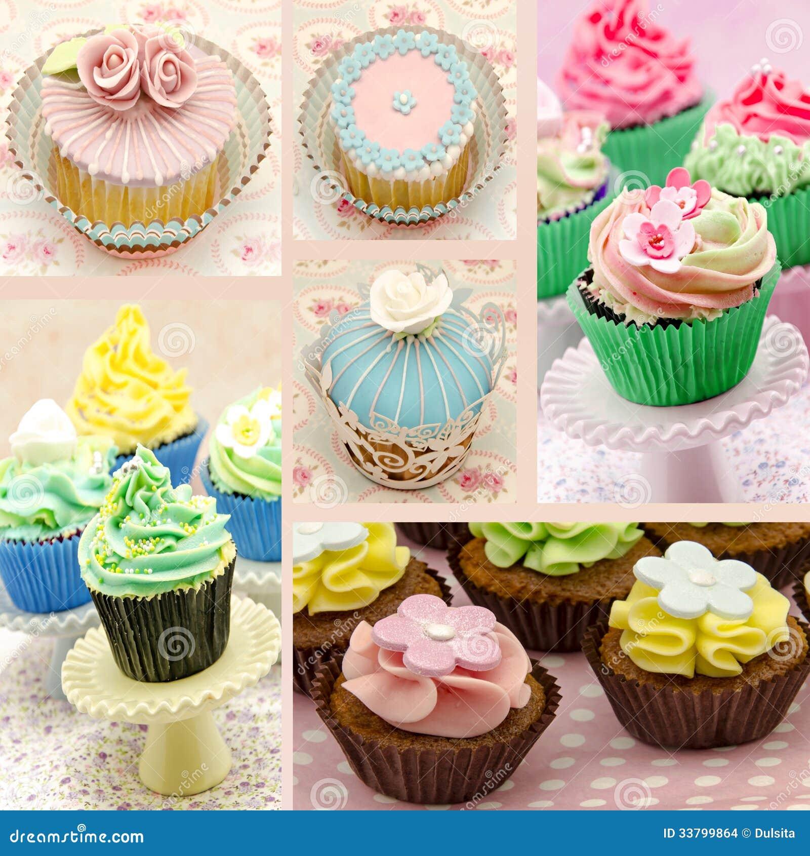 Τοιχογραφία διάφορων cupcakes
