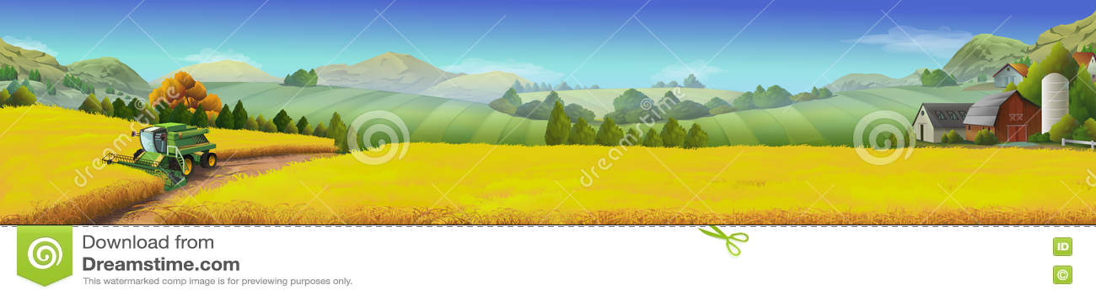 Τομέας σίτου, αγροτικό τοπίο