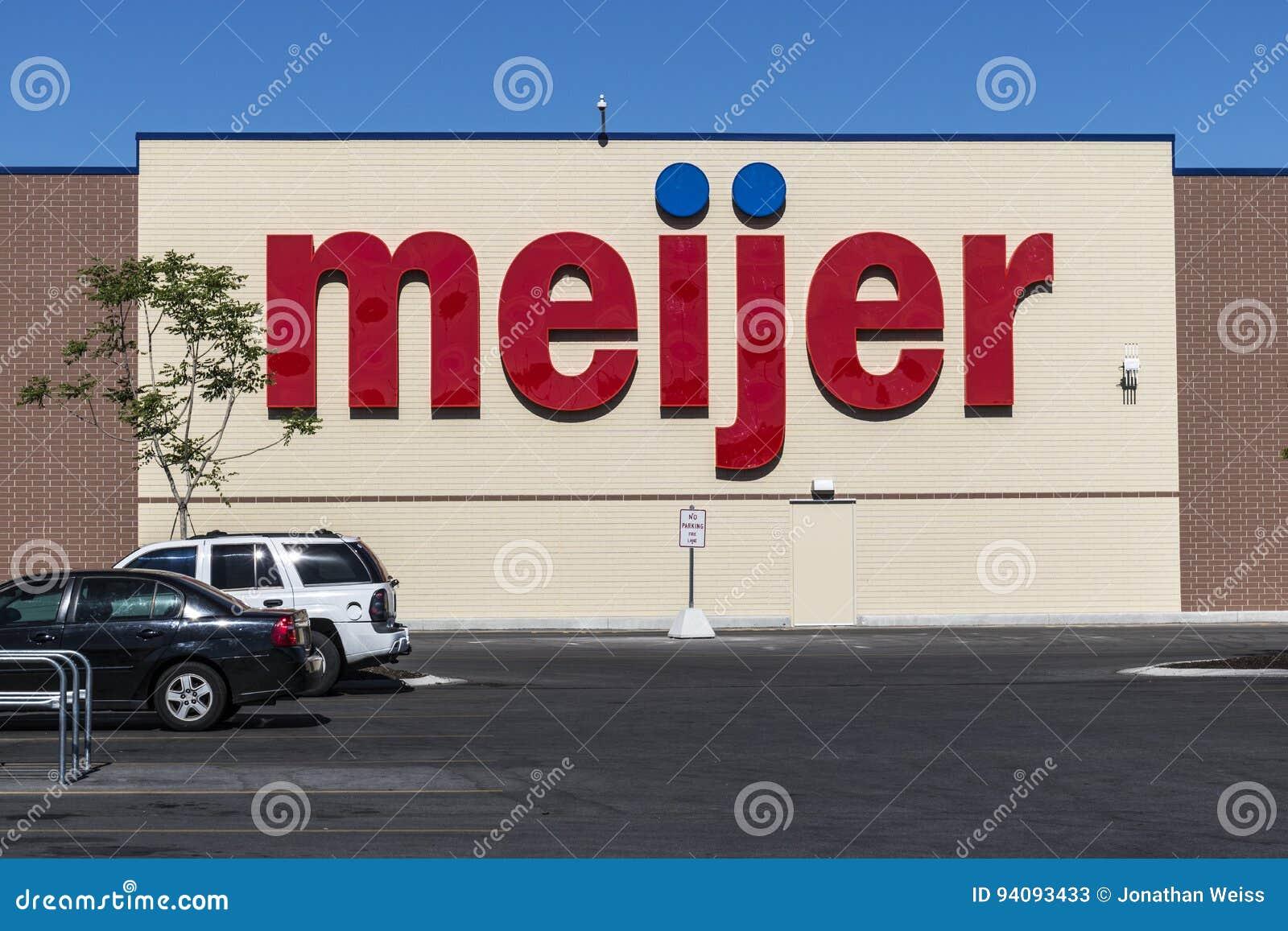Τον Ιούνιο του 2017 της Ινδιανάπολης - Circa: Λιανική θέση Meijer Το Meijer είναι μεγάλος λιανοπωλητής τύπων supercenter με πάνω