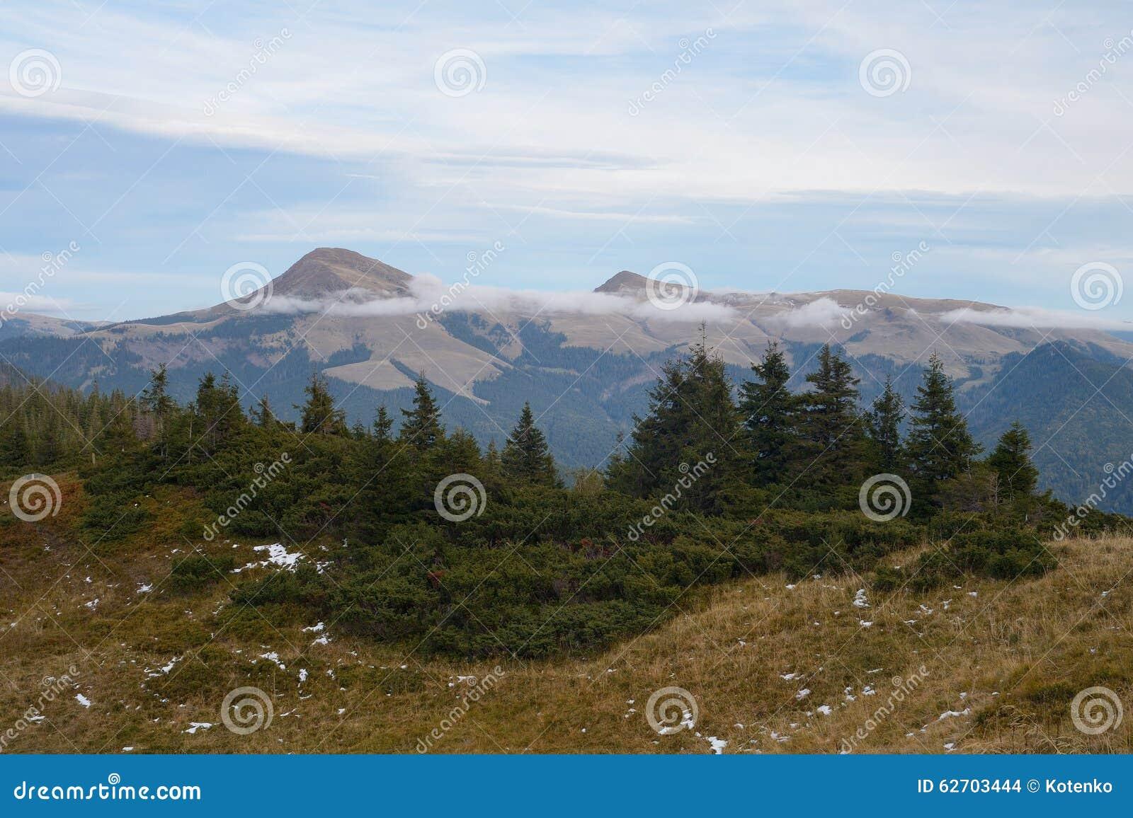 Τοπίο βουνών με τα δέντρα