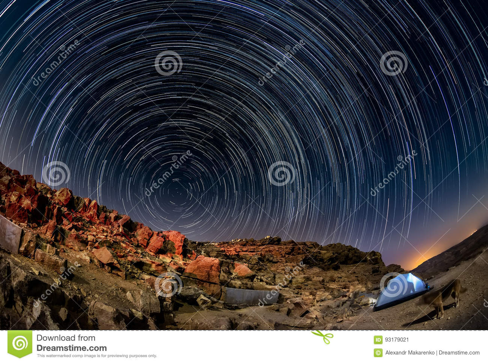Τοπίο νύχτας στην έρημο Negev