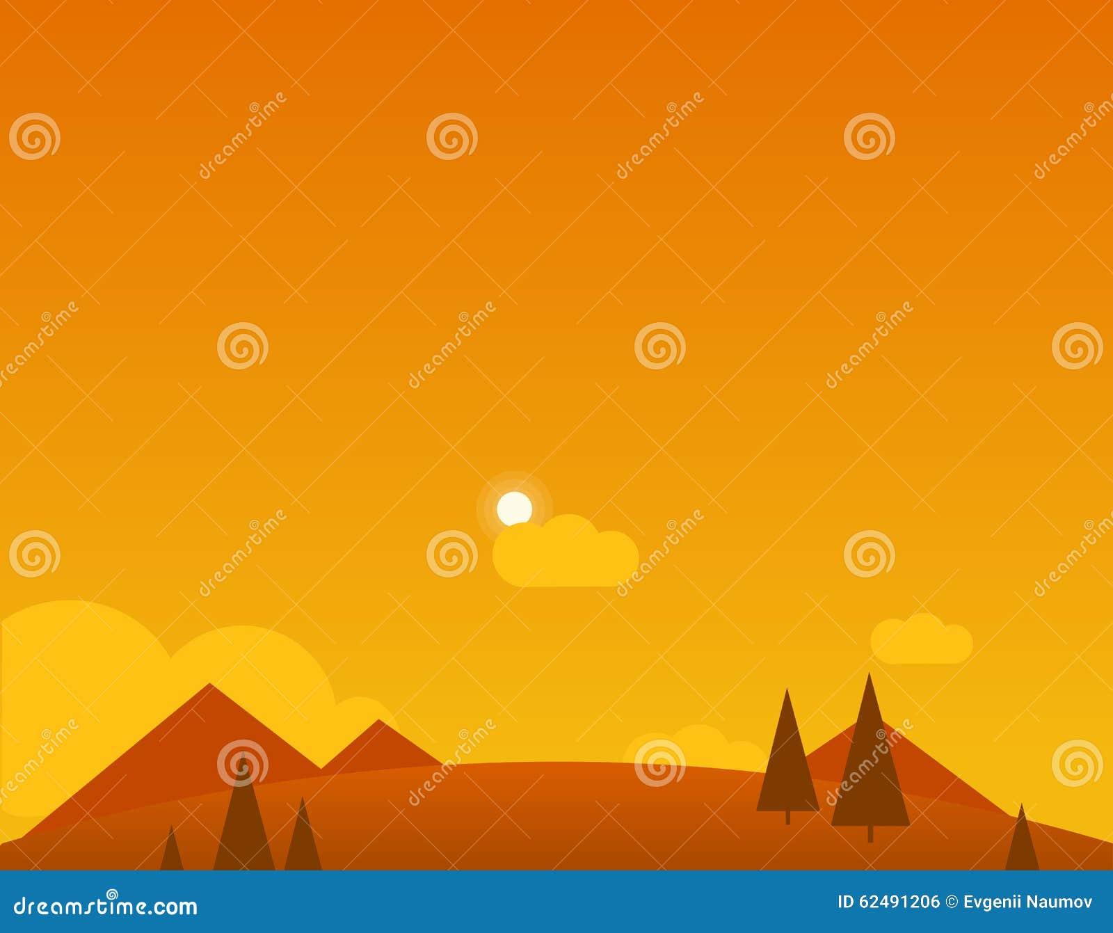 Τοπίο ταπετσαριών της ερήμου, των βουνών και του ήλιου