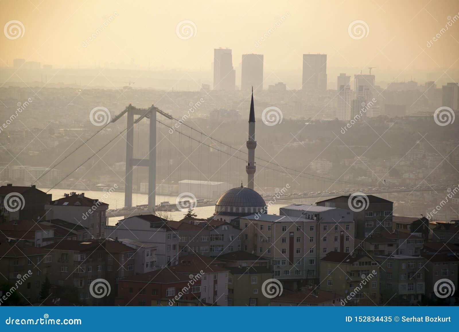 Τοπίο της Ιστανμπούλ από το μουσουλμανικό τέμενος Camlica