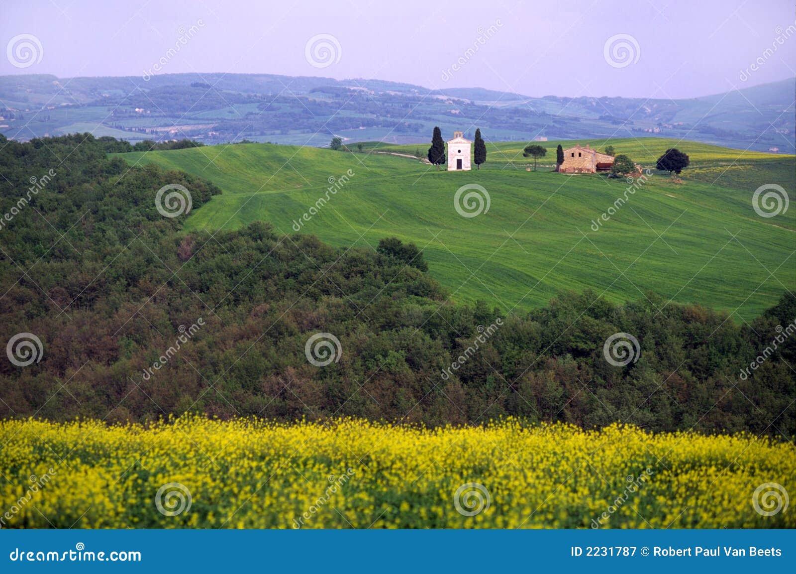 τοπίο Τοσκάνη της Ιταλίας