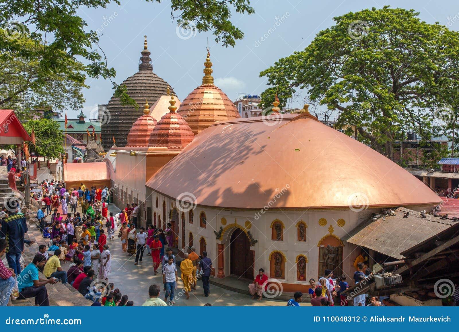 Τοπ άποψη του ναού Kamakhya Mandir σε Guwahati, κράτος Assam, βορειοανατολική Ινδία