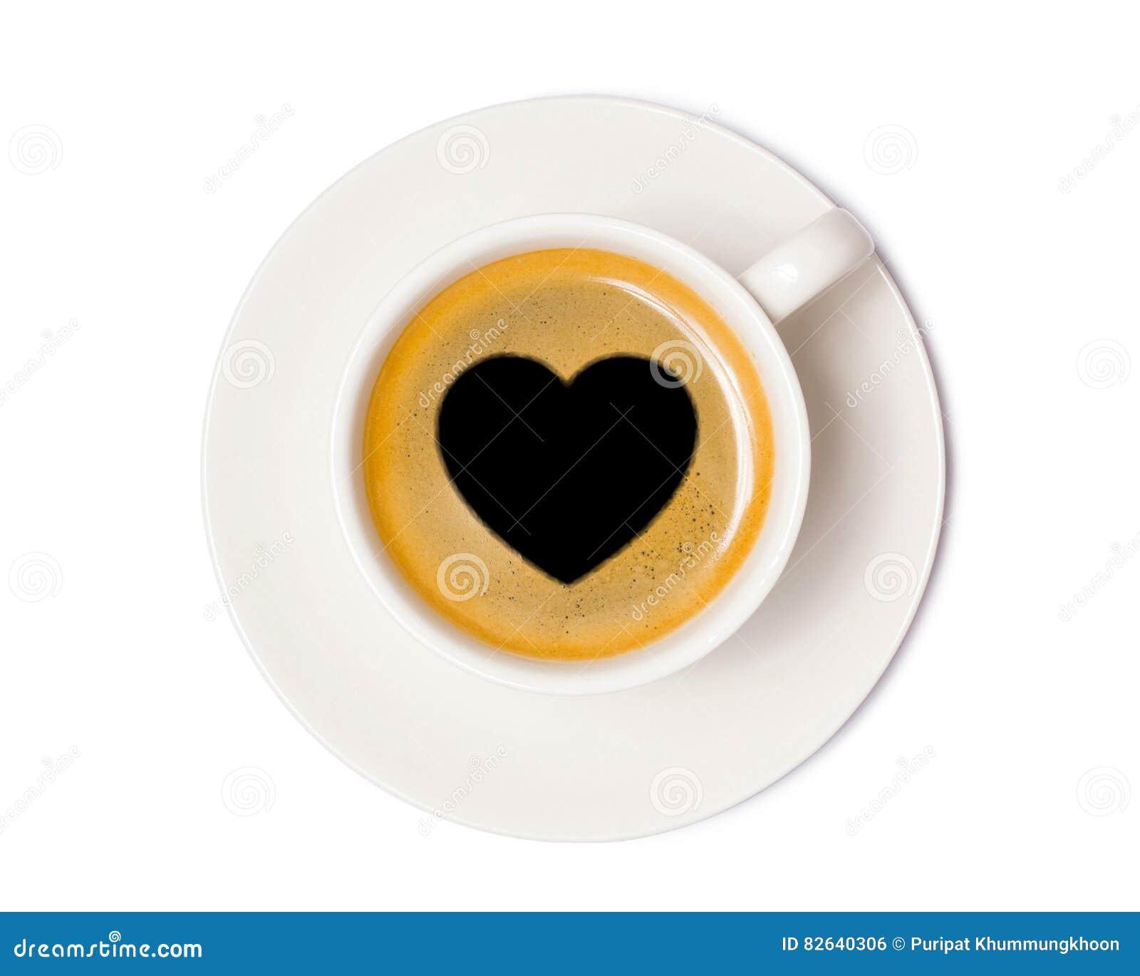 Τοπ άποψη φλυτζανιών καφέ που απομονώνεται στο άσπρο υπόβαθρο με το ψαλίδισμα