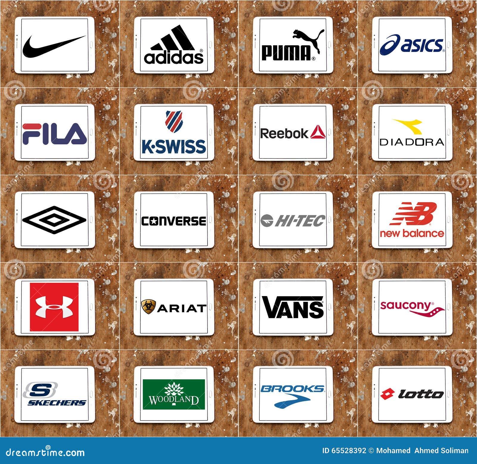 Τοπ διάσημα sportswear εμπορικά σήματα και λογότυπα επιχειρήσεων