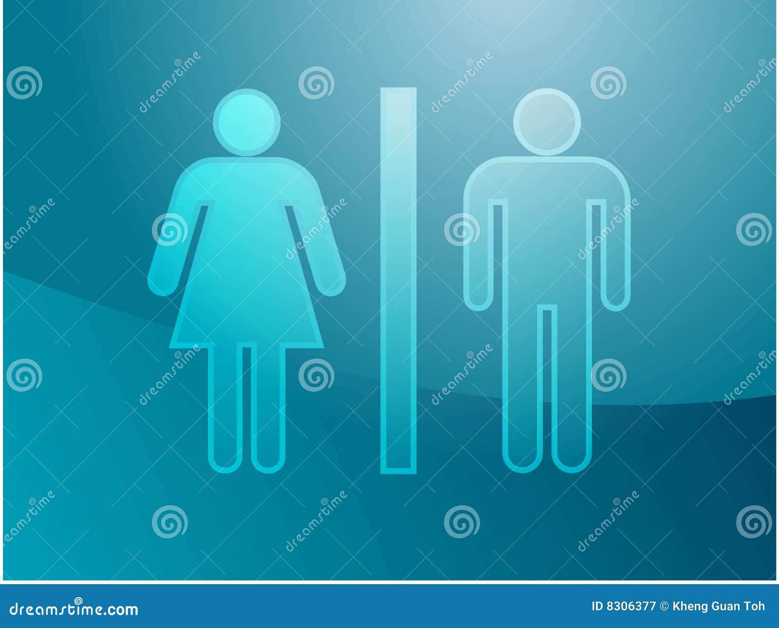 τουαλέτα συμβόλων απει&kapp