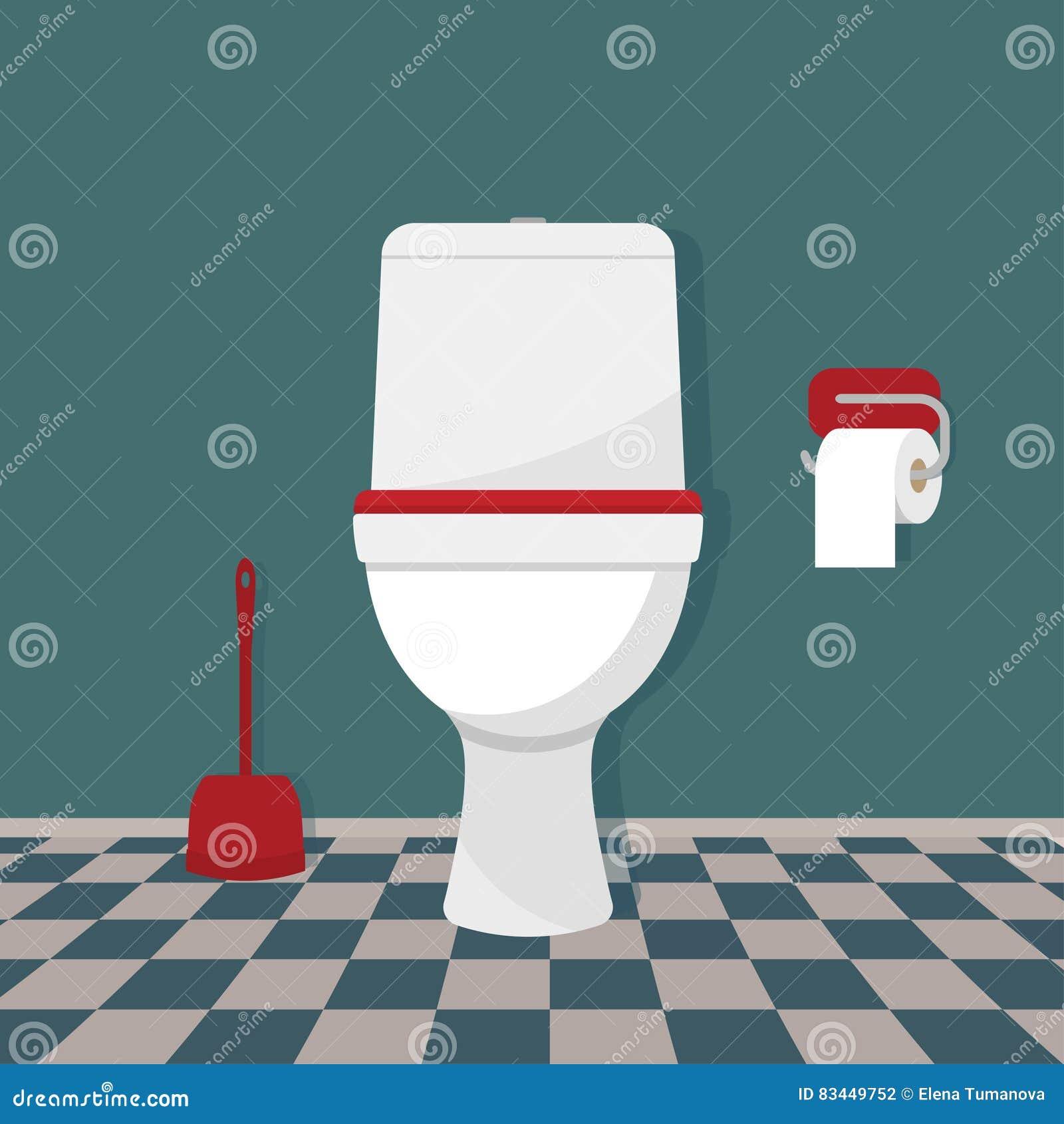 Τουαλέτα, χαρτί τουαλέτας και βούρτσα