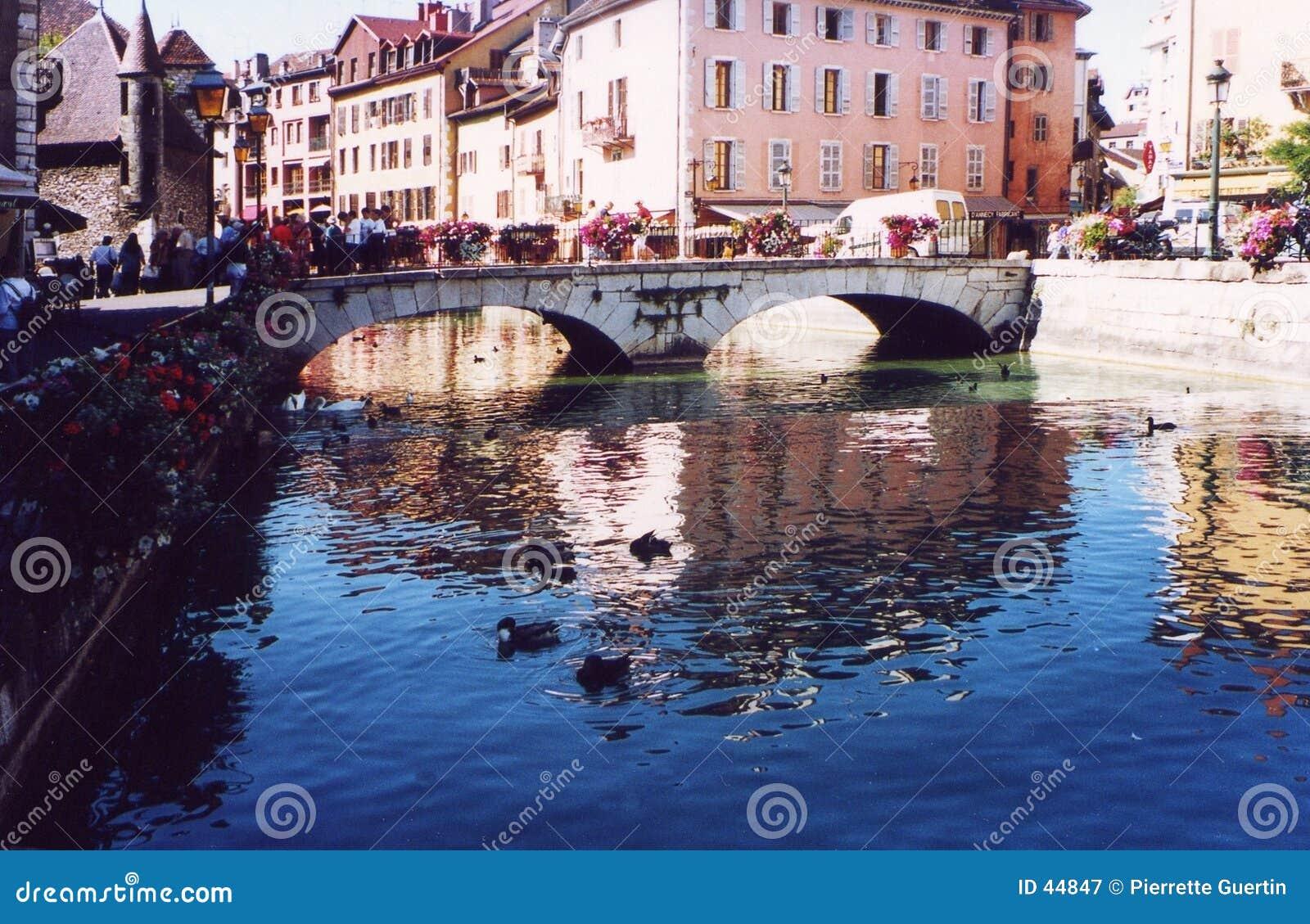 τουρίστες του Annecy Γαλλία haute savoie