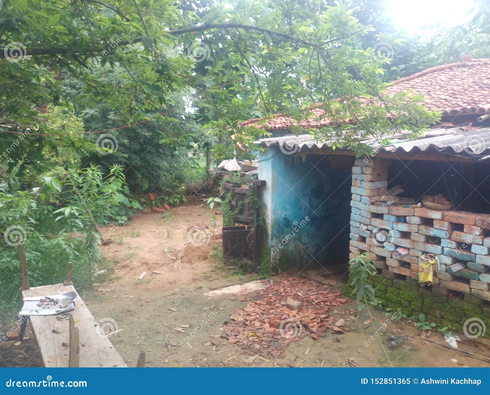 Του χωριού σπίτι Ινδία