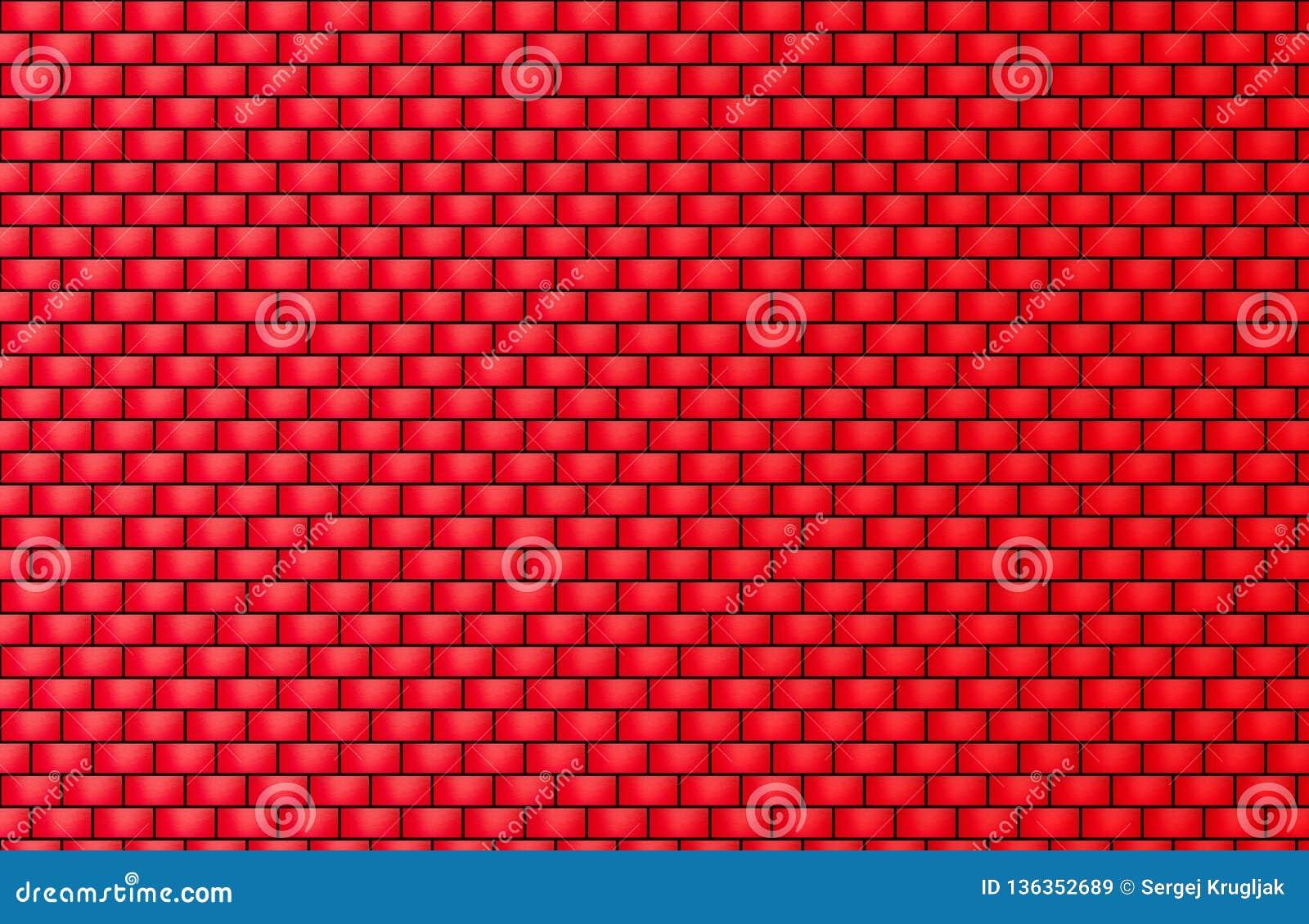 Τούβλινη σύσταση τοίχων για το υπόβαθρο και την ταπετσαρία
