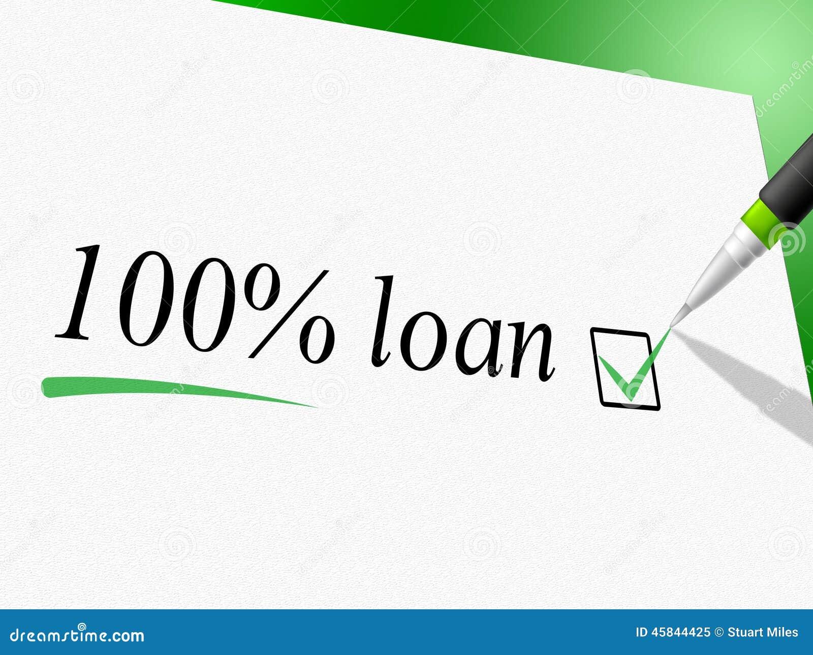 Το δάνειο εκατό τοις εκατό παρουσιάζει την πιστωτικά πρόοδο και δάνεια