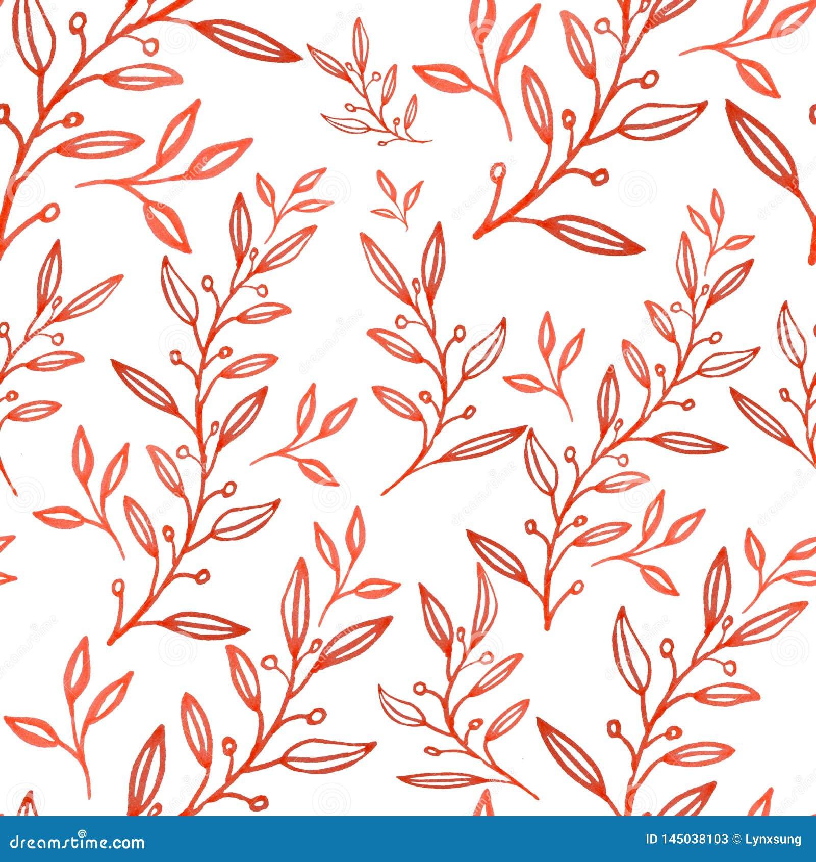Το άνευ ραφής αφηρημένο floral σχέδιο, συρμένη χέρι απεικόνιση μπορεί να