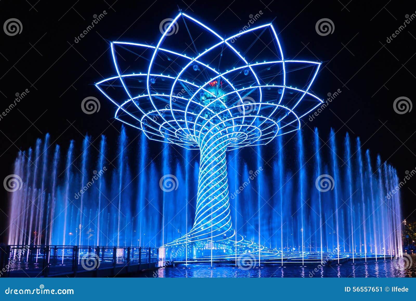 Download Το δέντρο νύχτας της ζωής (vita Della Albero) παρουσιάζει Το δέντρο της ζωής είναι το σύμβολο EXPO το 2015 Εκδοτική Εικόνες - εικόνα από εμφανίστε, ιταλία: 56557651