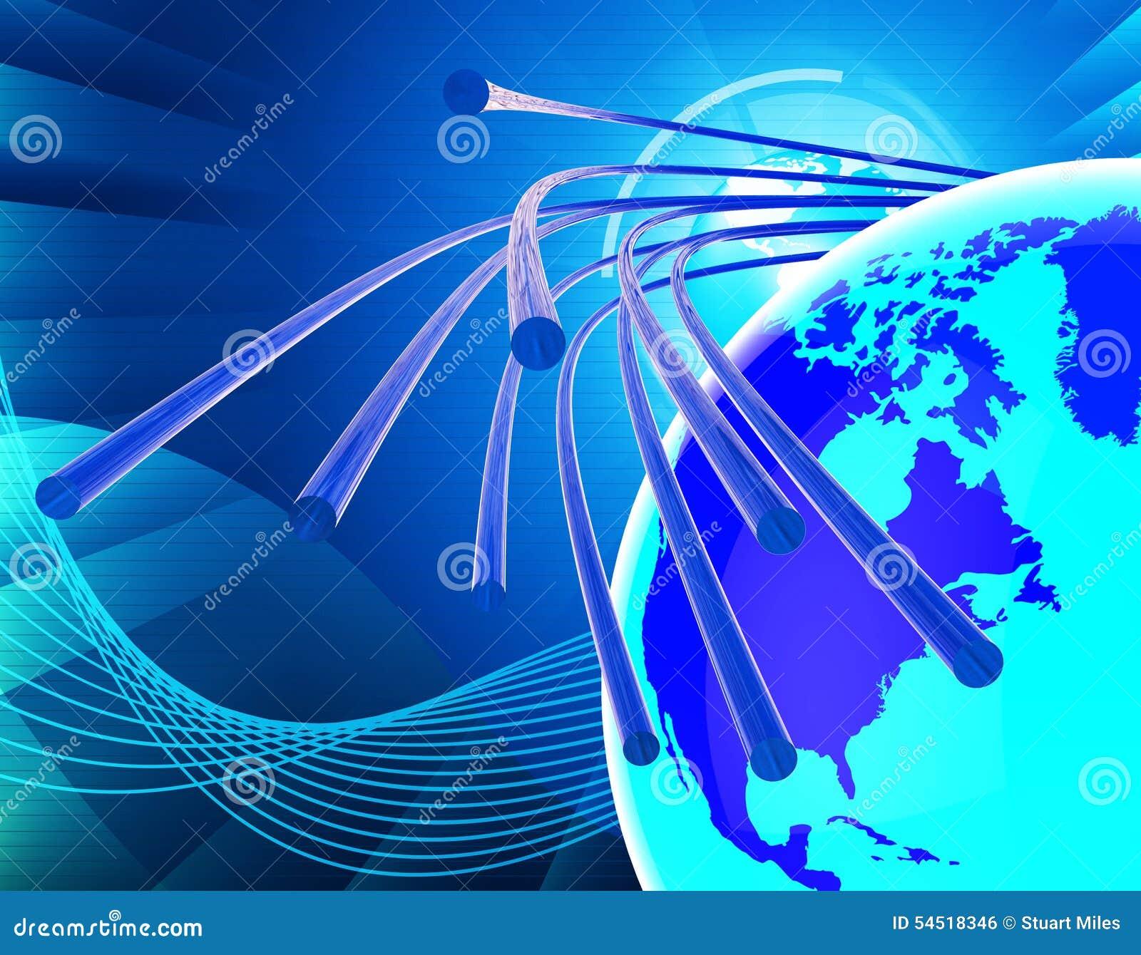 Το δίκτυο οπτικής ίνας σημαίνει το World Wide Web και την επικοινωνία