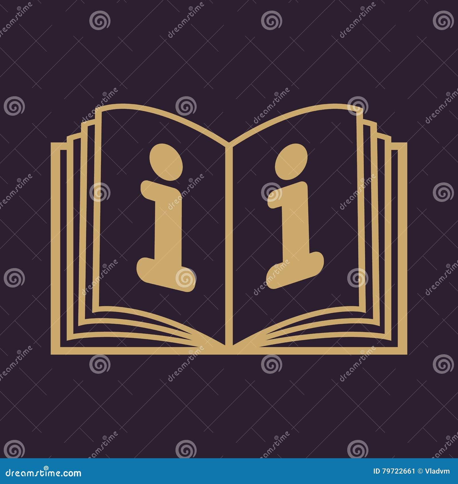 Το ανοικτό εικονίδιο βιβλίων Χειρωνακτικός και διδακτικός, οδηγία, σύμβολο εγκυκλοπαιδειών επίπεδος